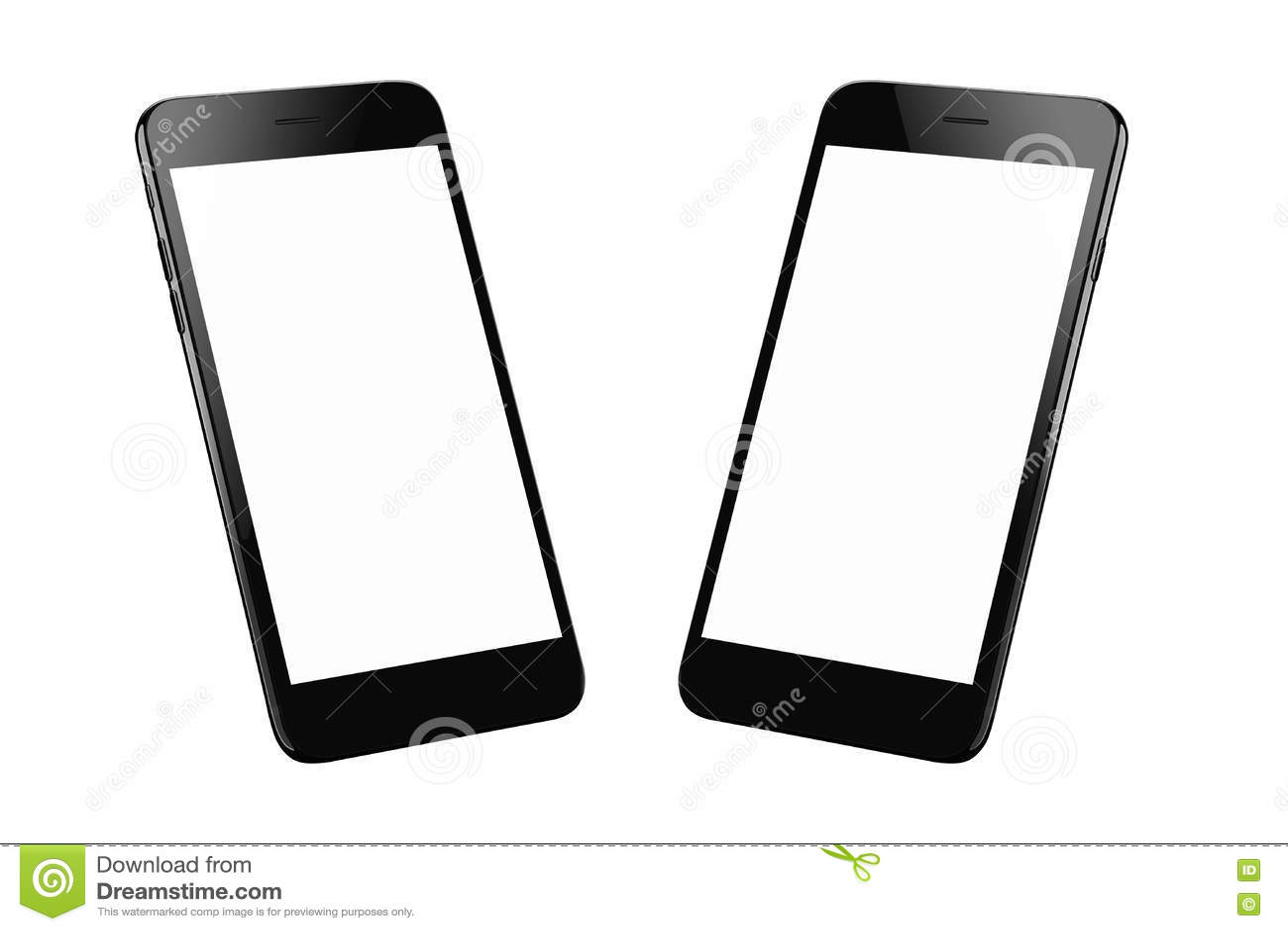 Черный современный умный изолированный телефон 2 равновеликих положения