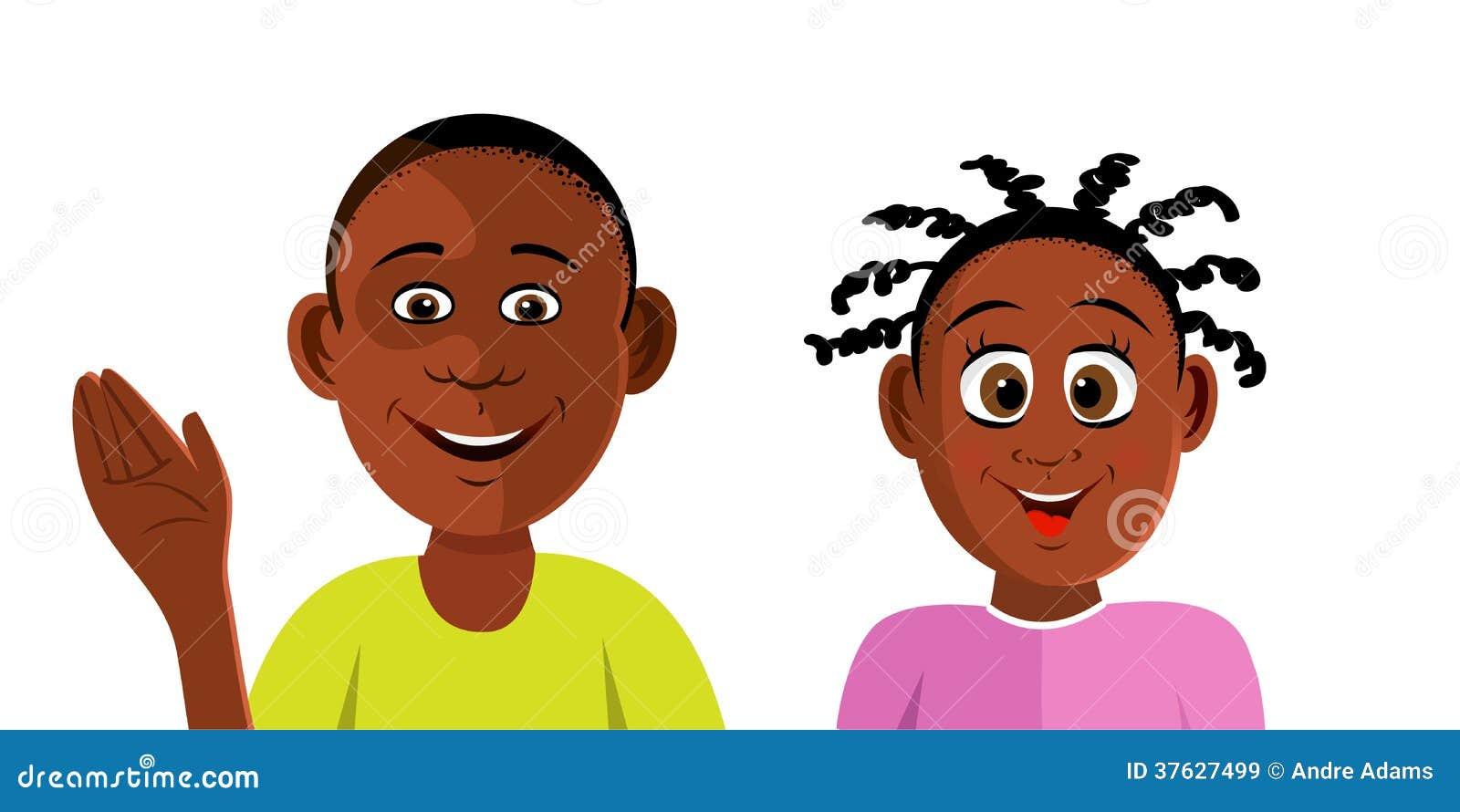 Черный усмехаться детей