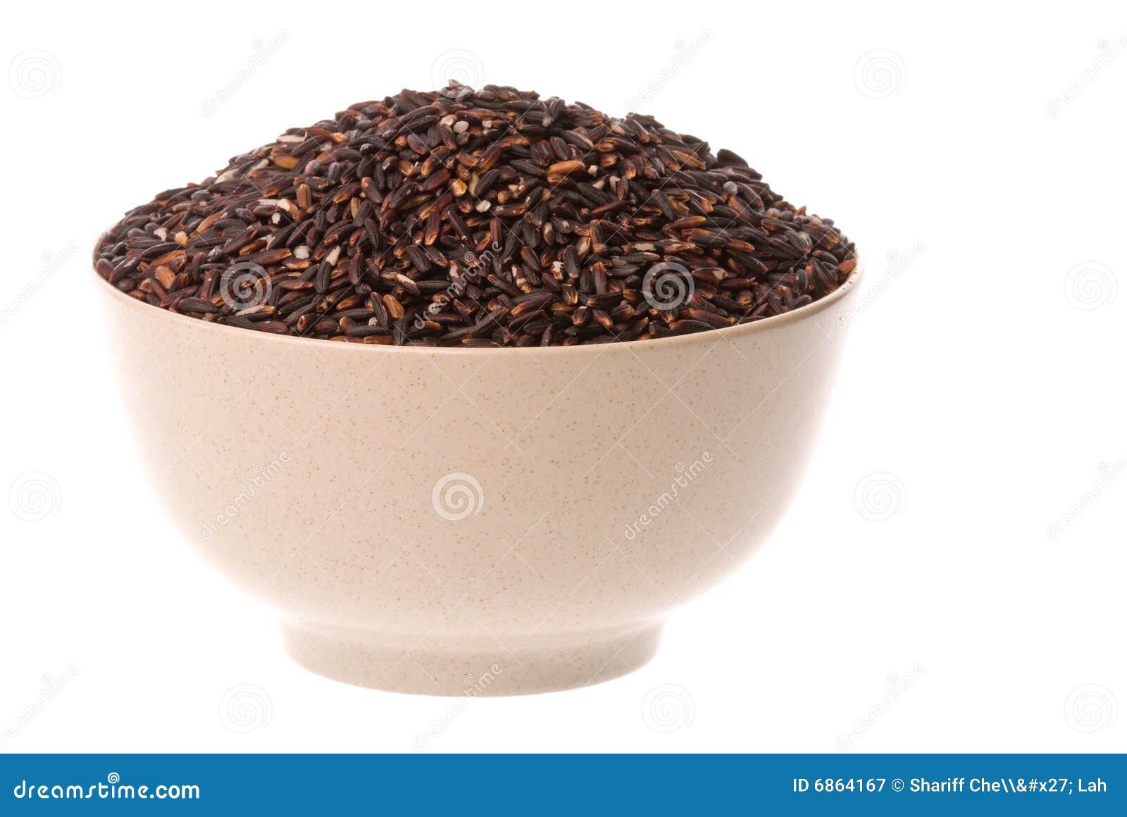 черный glutinous изолированный рис