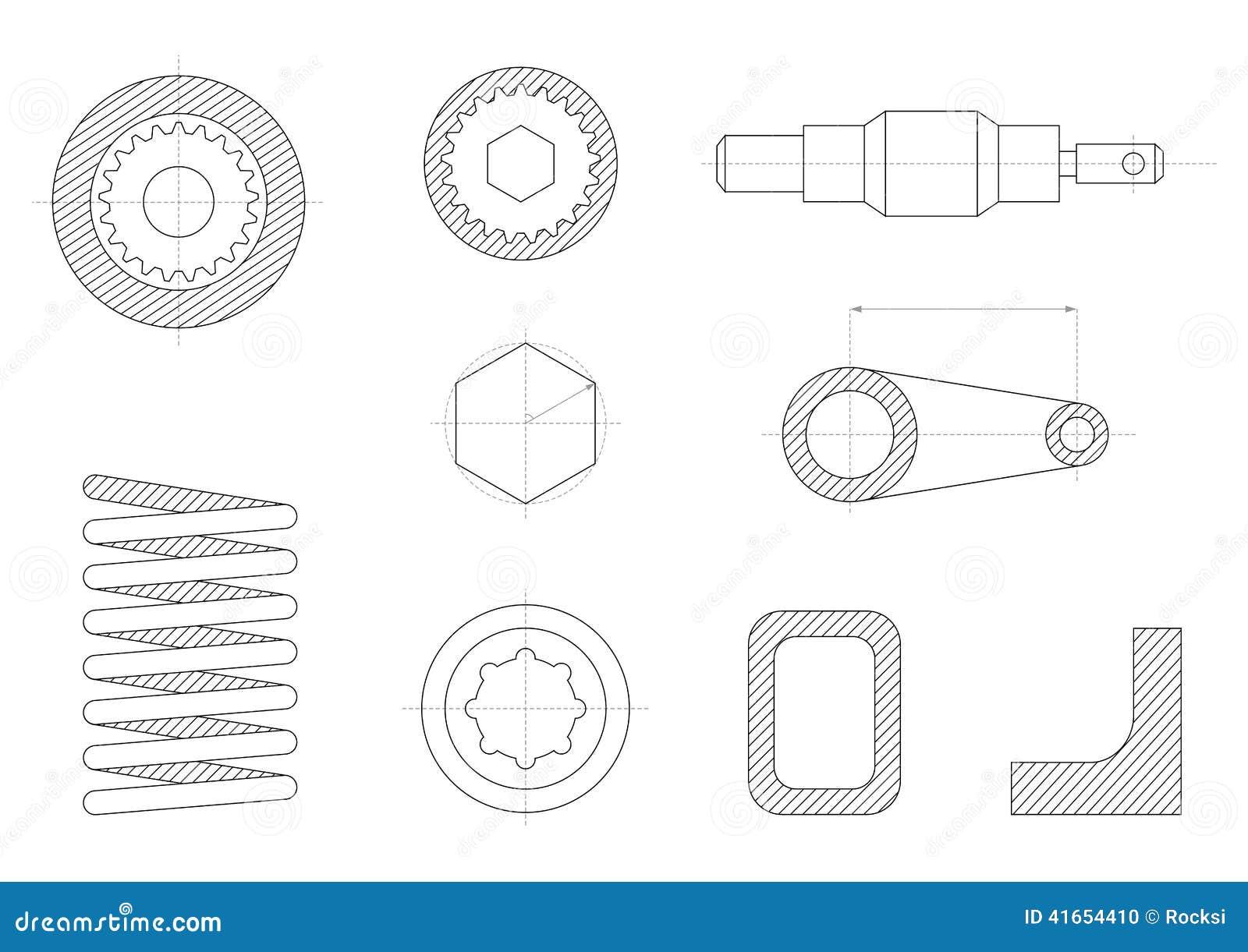 чертежи механически частей