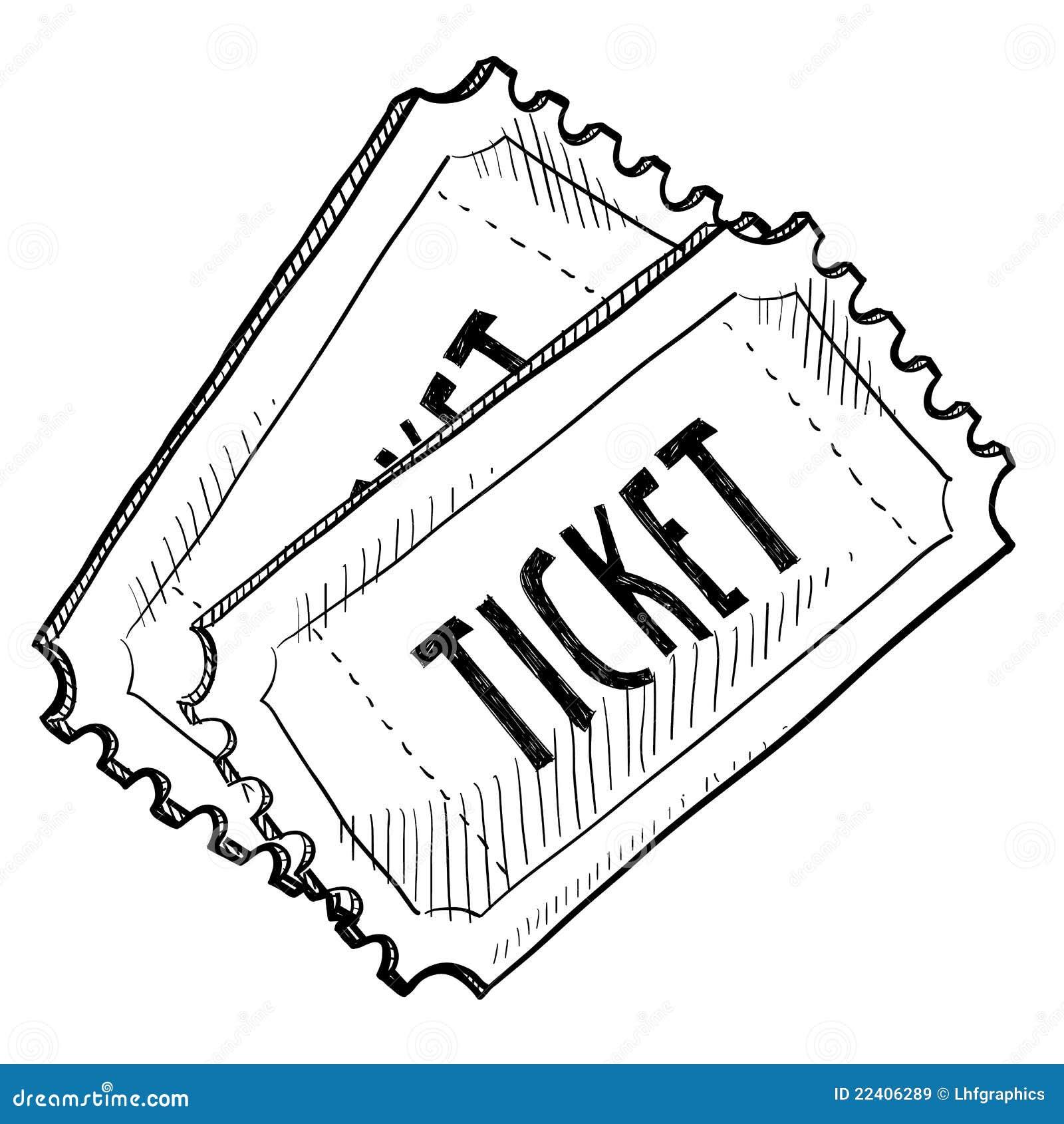 Билета нарисована