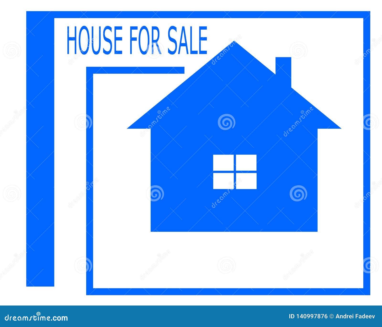 Чертеж вектора логотипа дома для продажи