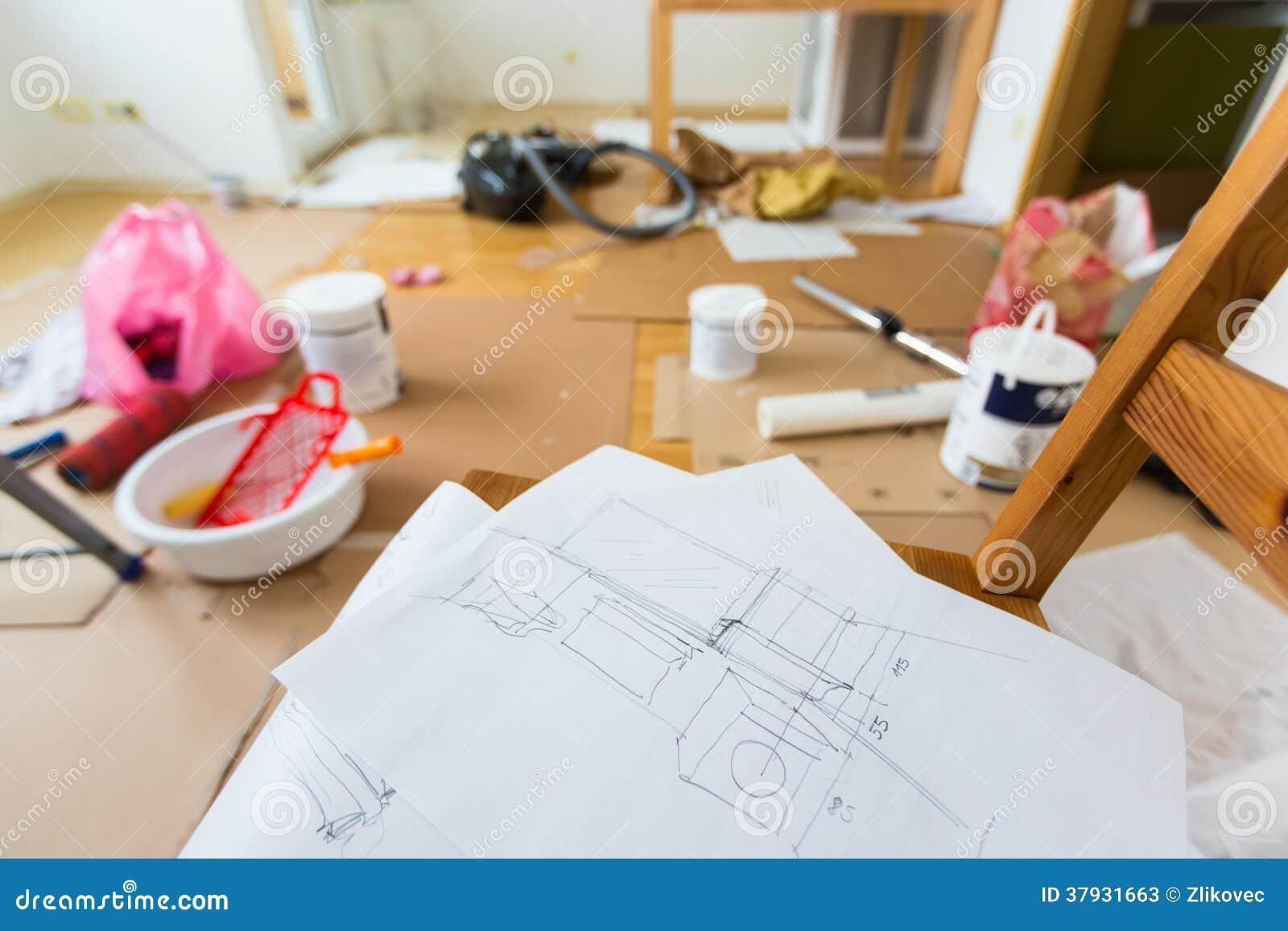 Чертеж домашней реновации