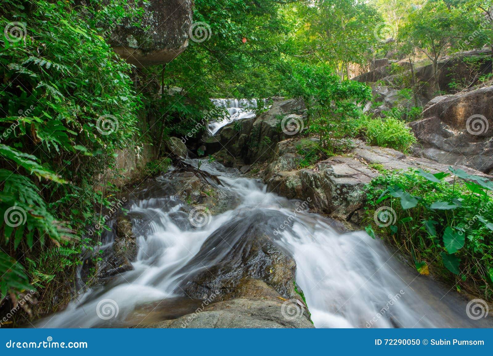 Download Четвертый пол водопада Huai Yang Стоковое Фото - изображение насчитывающей рай, головка: 72290050