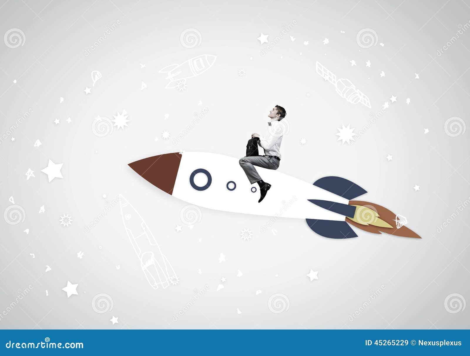 Человек на ракете