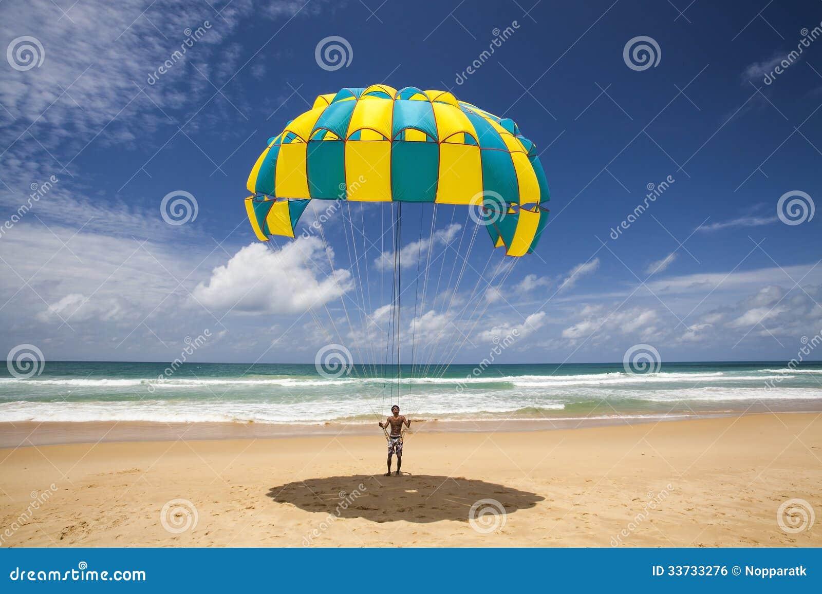 Человек парашюта