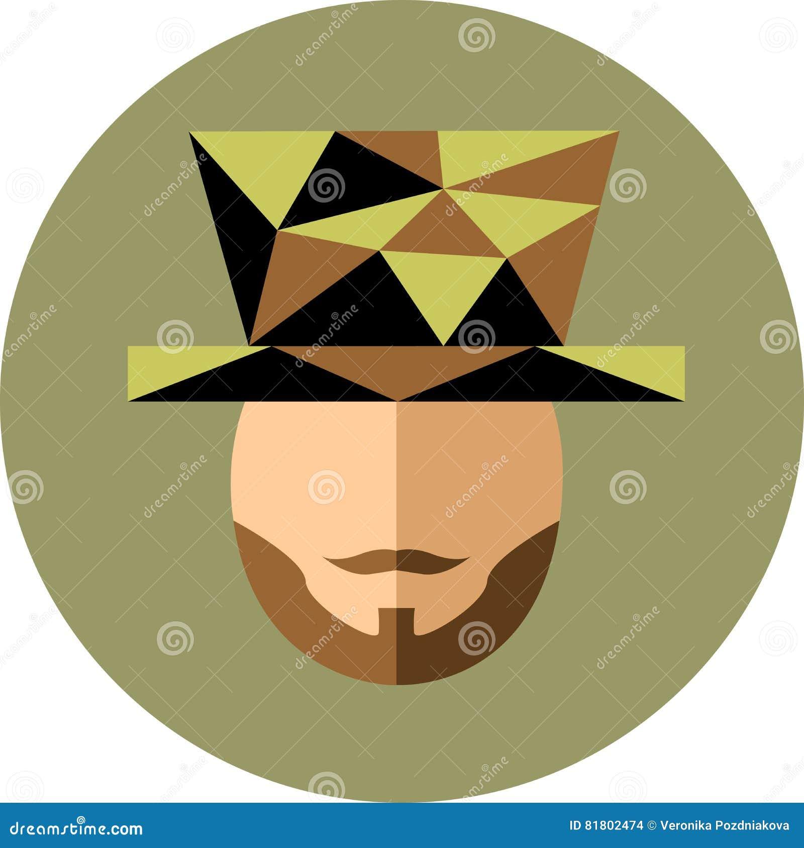 Человек с бородой и усик в шляпе Джентльмен жонглирует