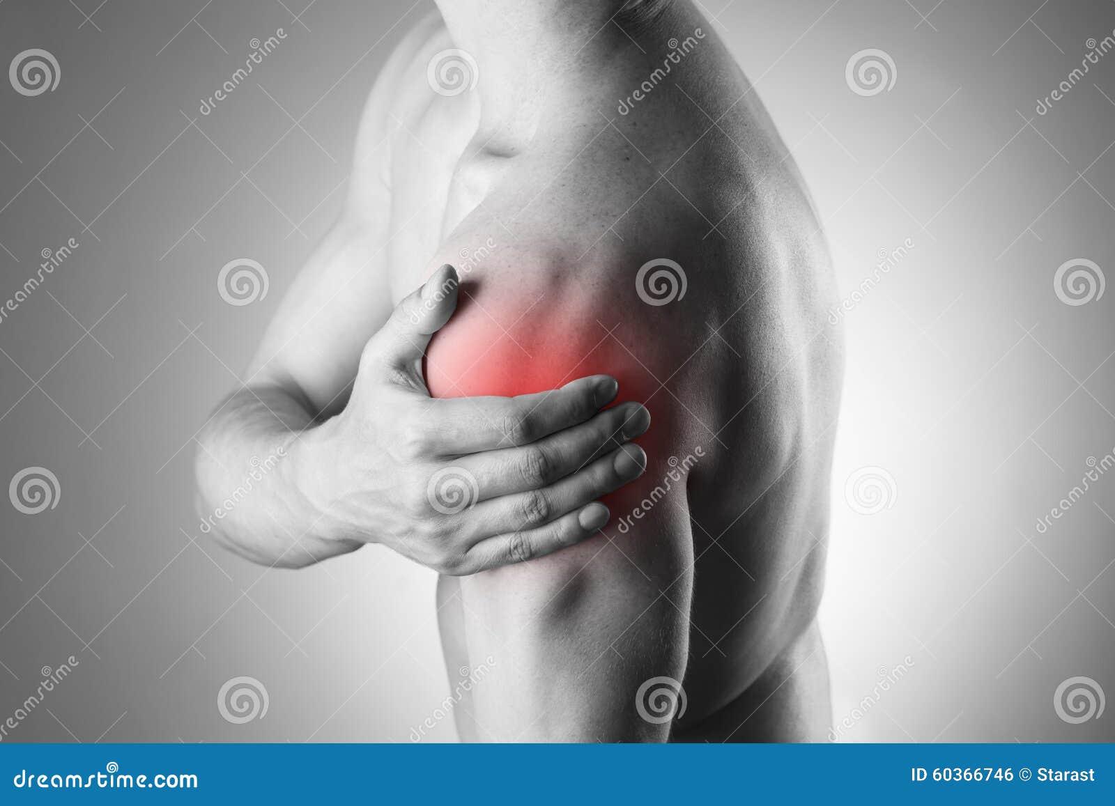 Человек с болью в плече Боль в человеческом теле