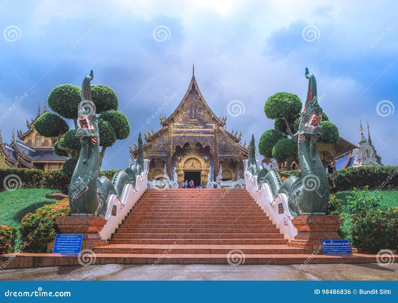 ЧИАНГМАЙ, ТАИЛАНД - 20-ое августа 2017: Висок вертепа запрета тайский висок который расположен в северной области Таиланда он одн