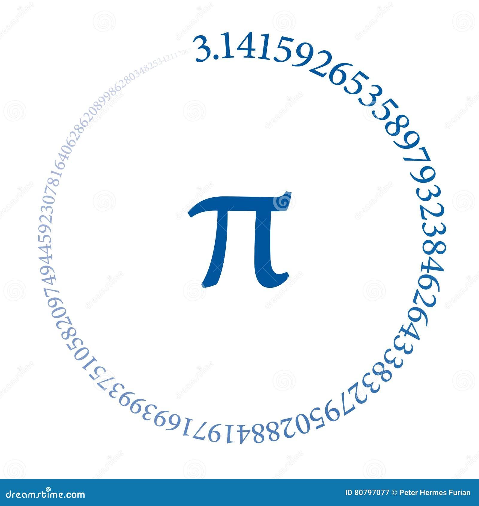 100 чисел номера Pi формируя круг