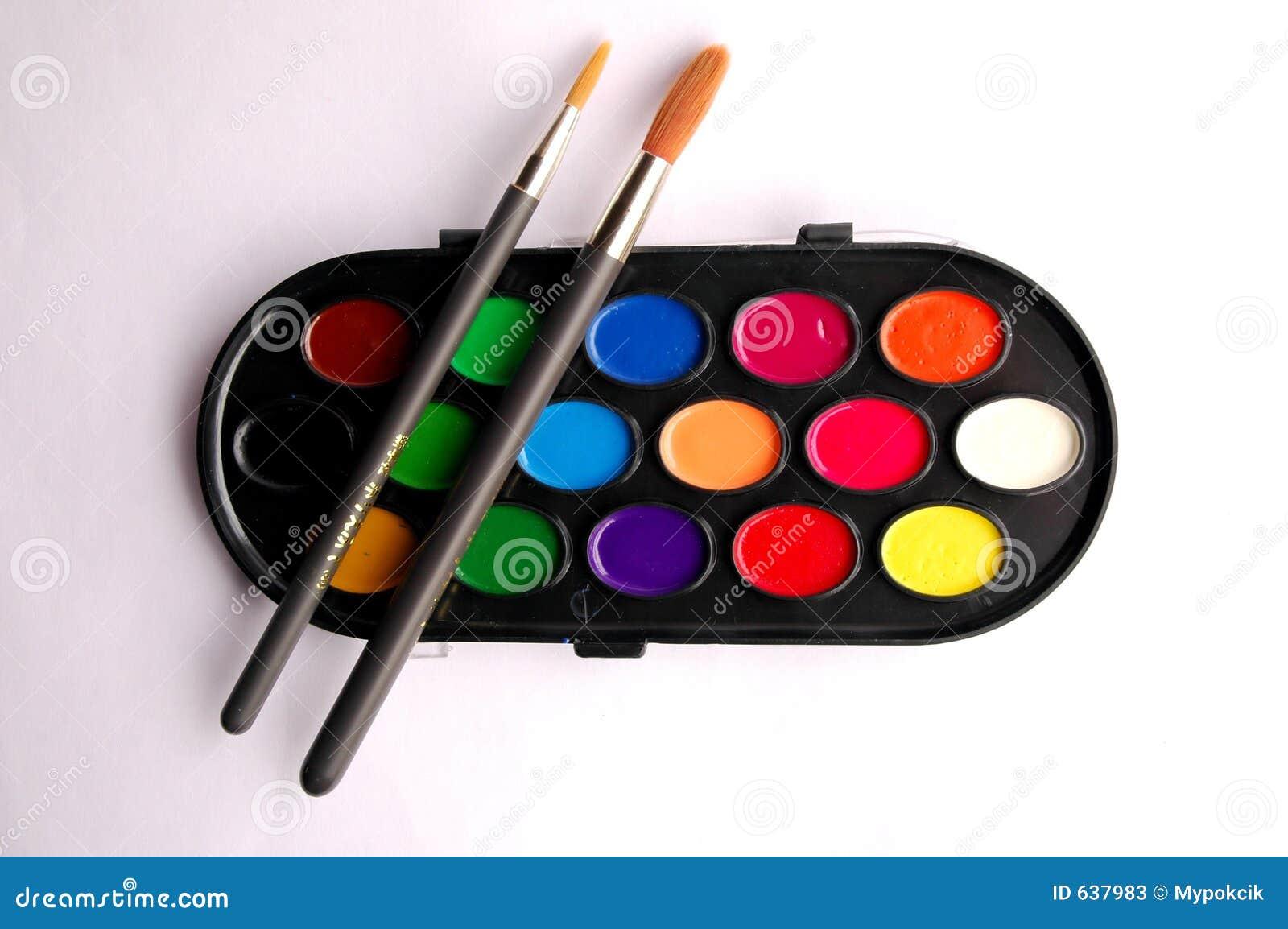 Download чистит палитру щеткой цвета Стоковое Изображение - изображение насчитывающей backhoe, пакостно: 637983