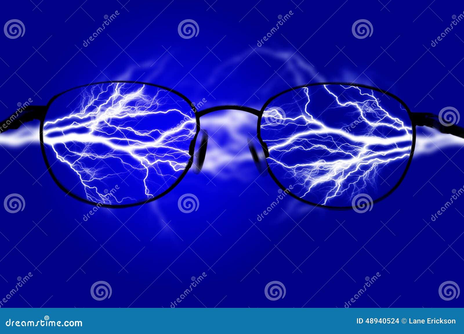 Чисто энергия и электричество символизируя силу