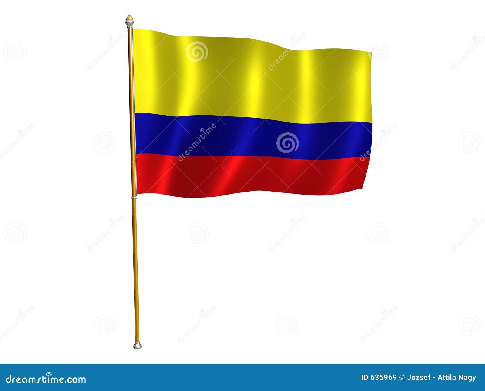 Download чолумбийский шелк флага иллюстрация штока. иллюстрации насчитывающей пульсация - 635969