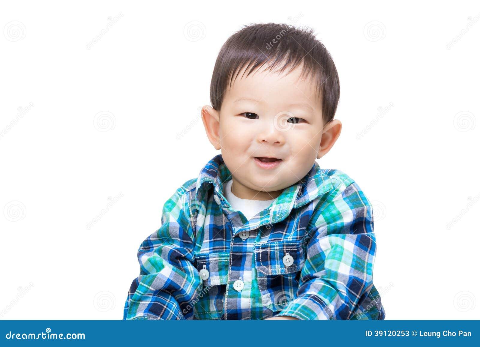 Чувство ребёнка Азии счастливое
