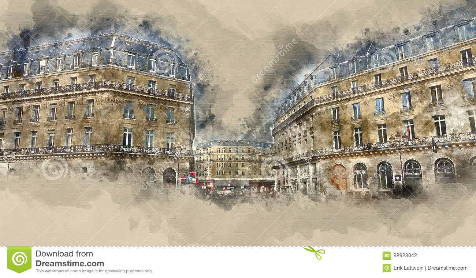 Чудесные особняки в Париже - изумительном взгляде улицы