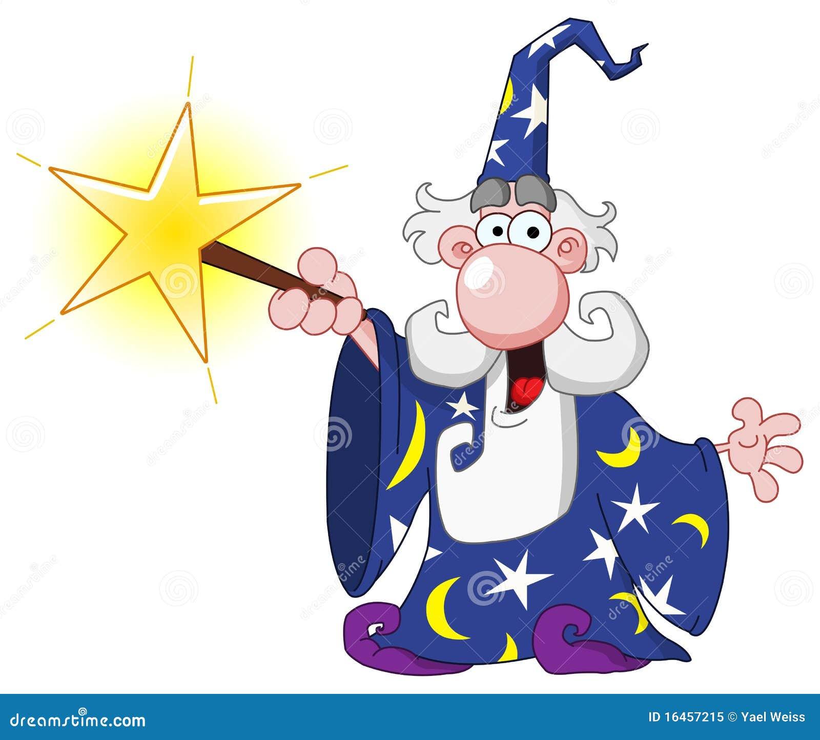 Детский рисунок волшебника