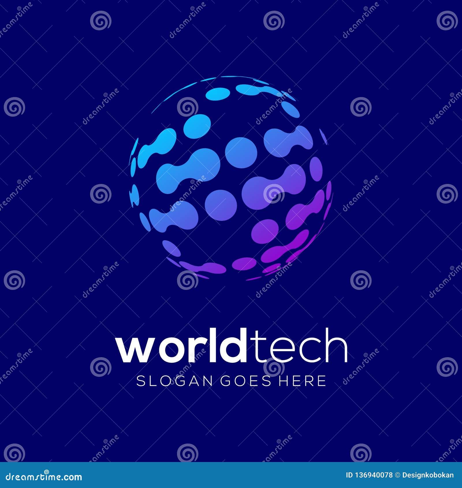 шаблона логотипа технологии уникального
