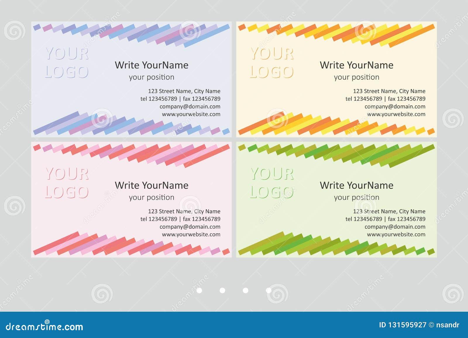 Шаблоны вектора визитной карточки Minimalistic Всеобщий геометрический дизайн с multicolor акцентом - как раз местом ваш текст