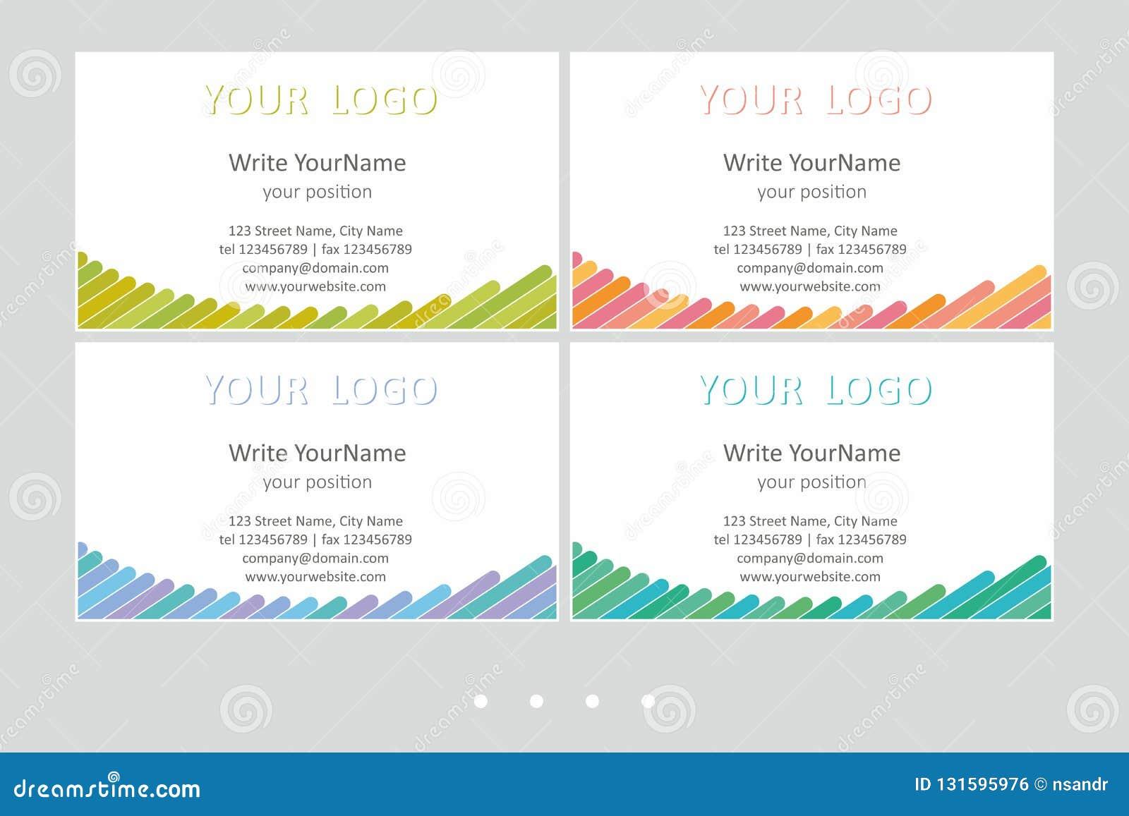 Шаблоны вектора визитной карточки Minimalistic Всеобщий геометрический дизайн с ярким акцентом - как раз местом ваш текст