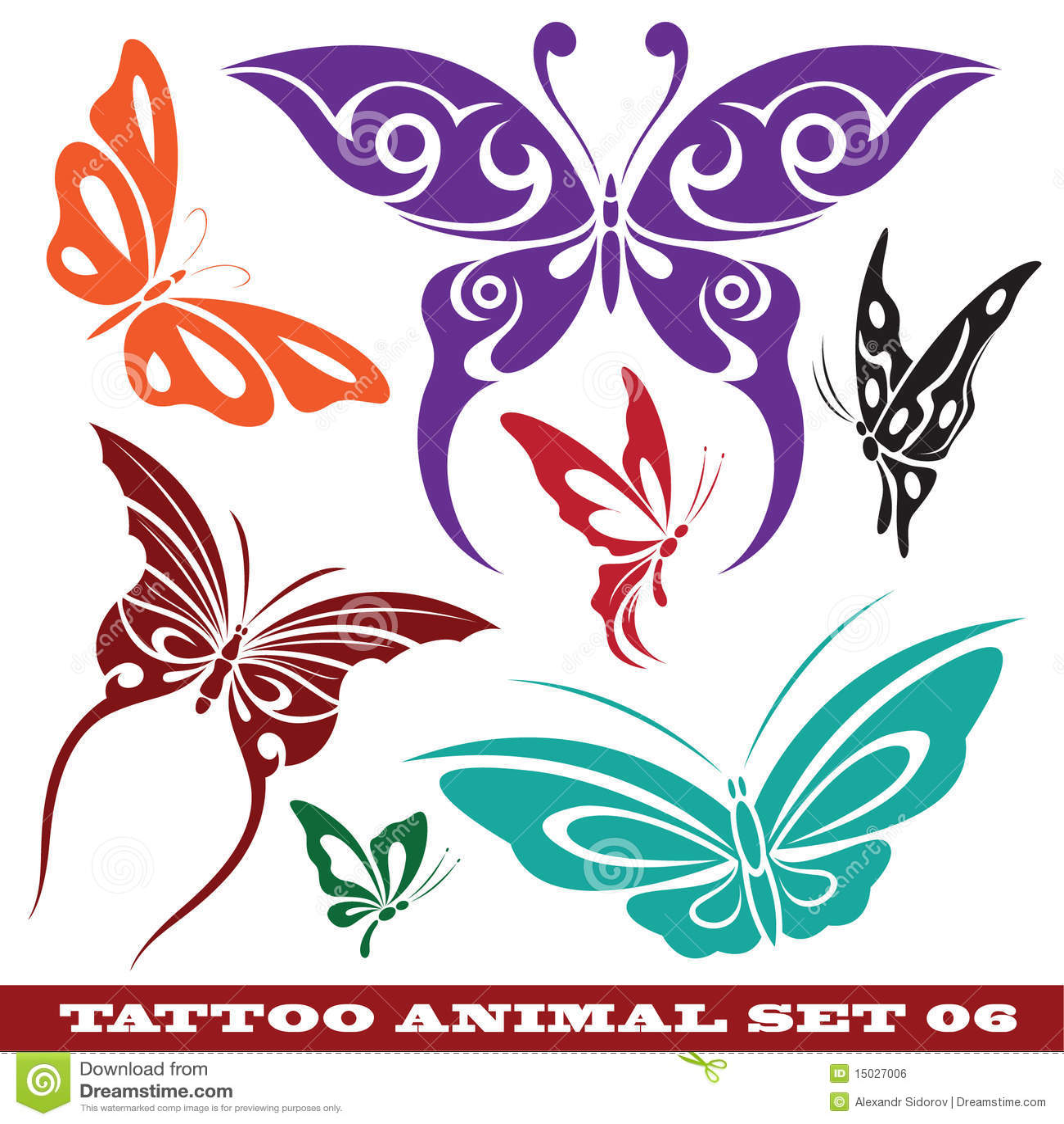 Изображение rf шаблоны tattoo бабочки