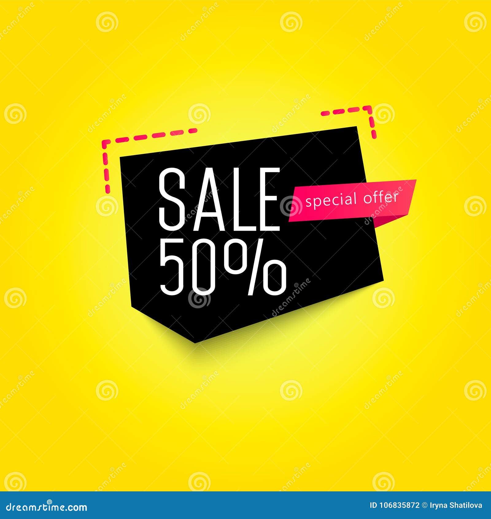 Шаблон знамени продажи 50  также вектор иллюстрации притяжки corel