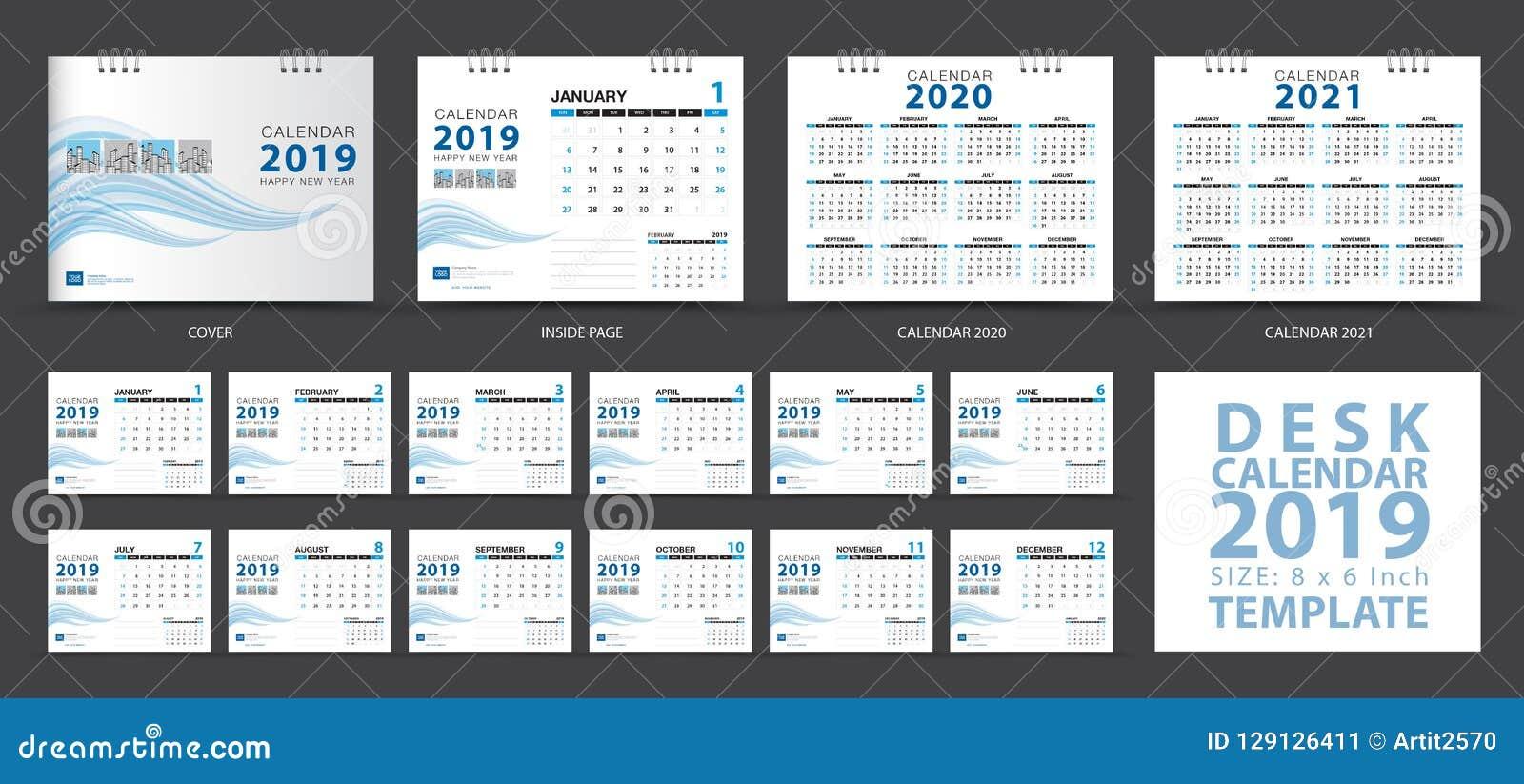 Шаблон 2019, комплект настольного календаря 12 месяцев, Calendar 2020-2021 художественное произведение, плановик, старты недели в