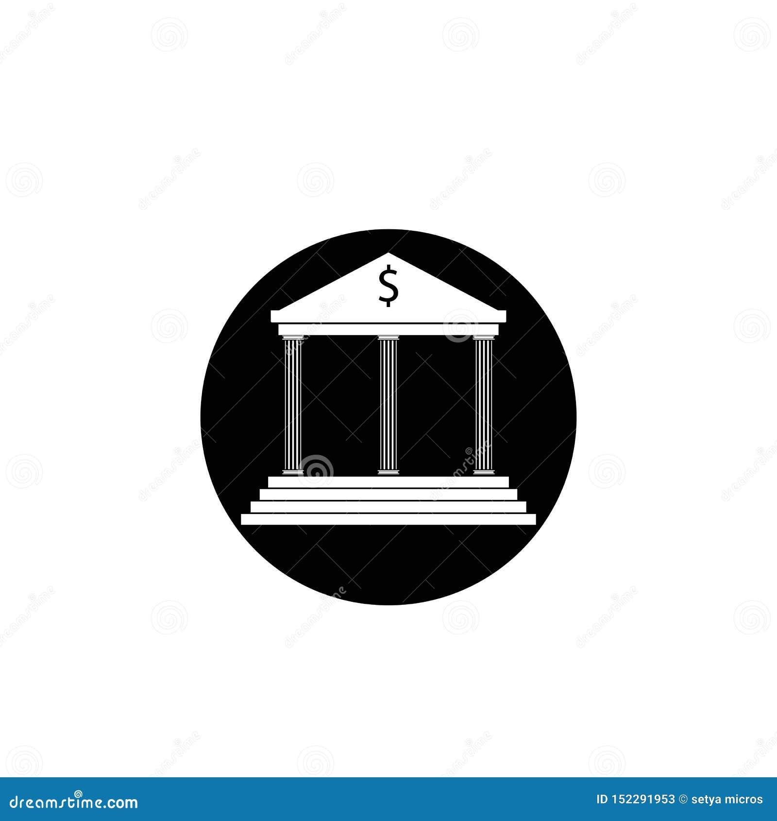 шаблон логотипа вектора значка банка