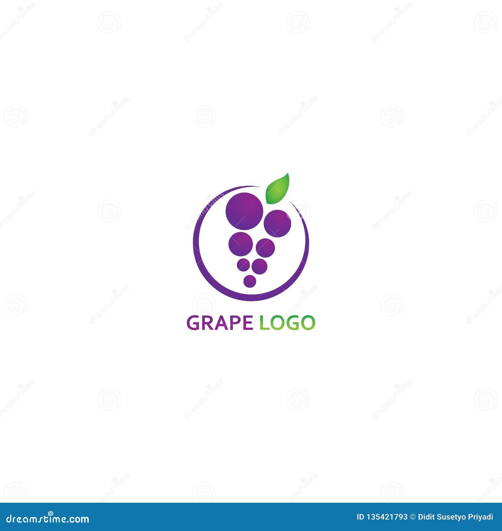 Шаблон логотипа виноградины - вектор