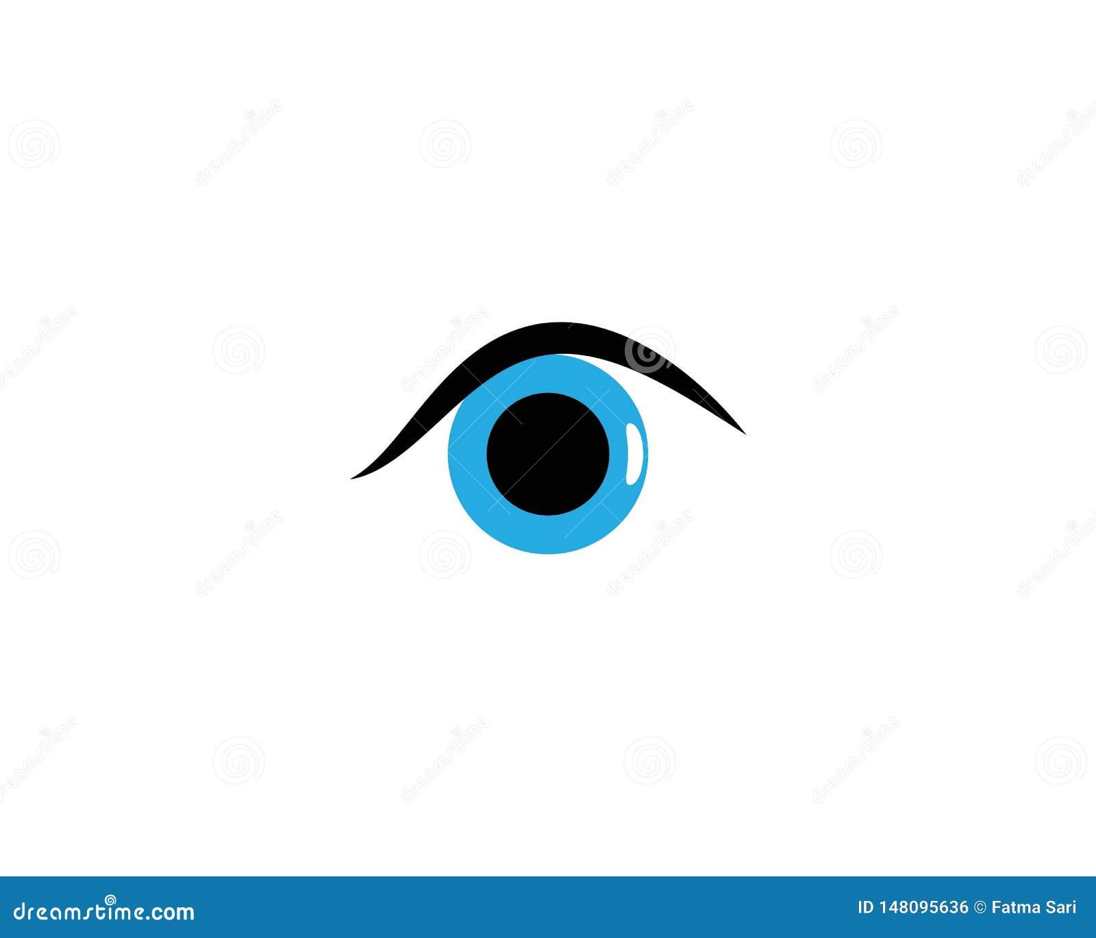 Шаблон логотипа глаза
