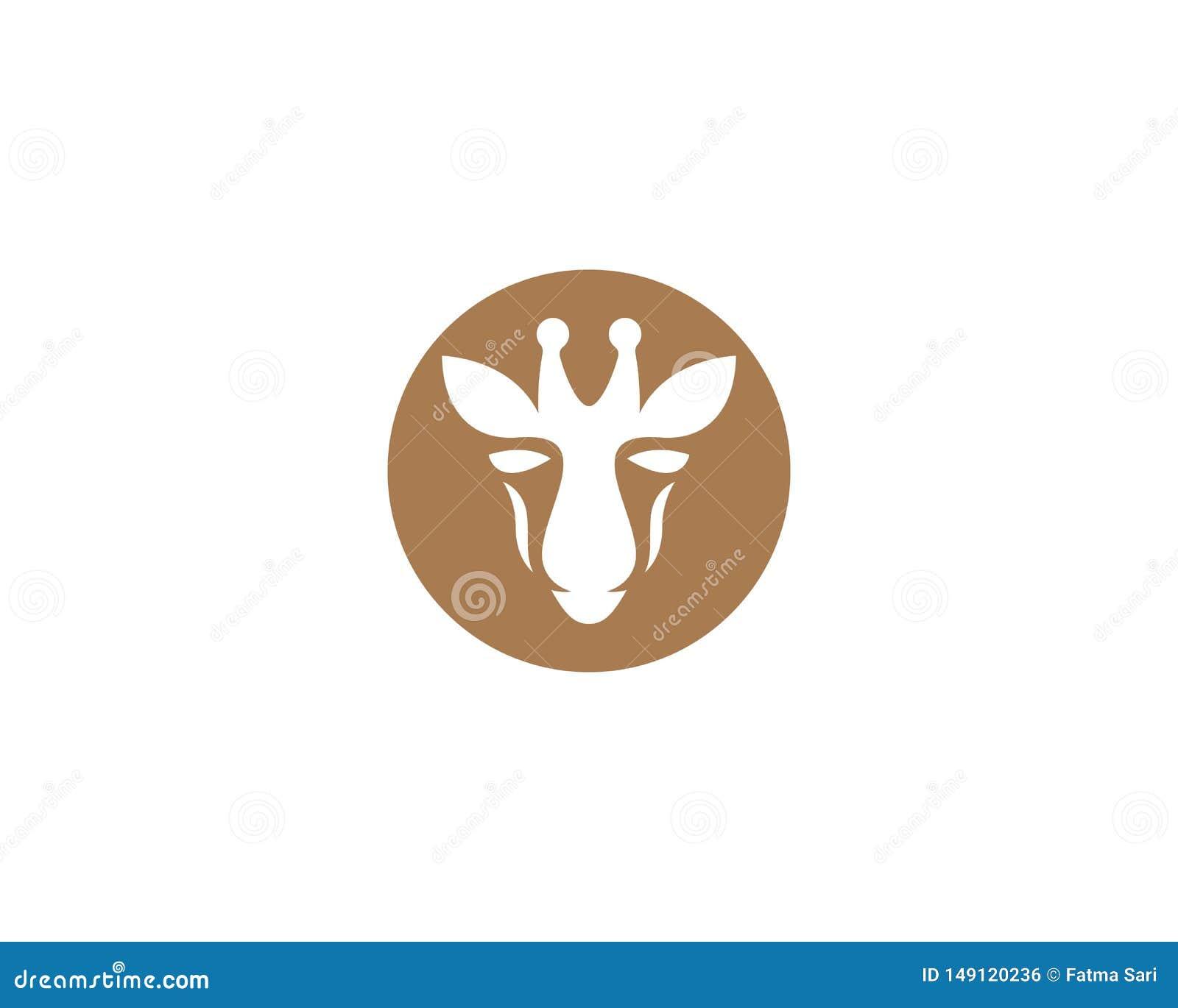 Шаблон логотипа жирафа