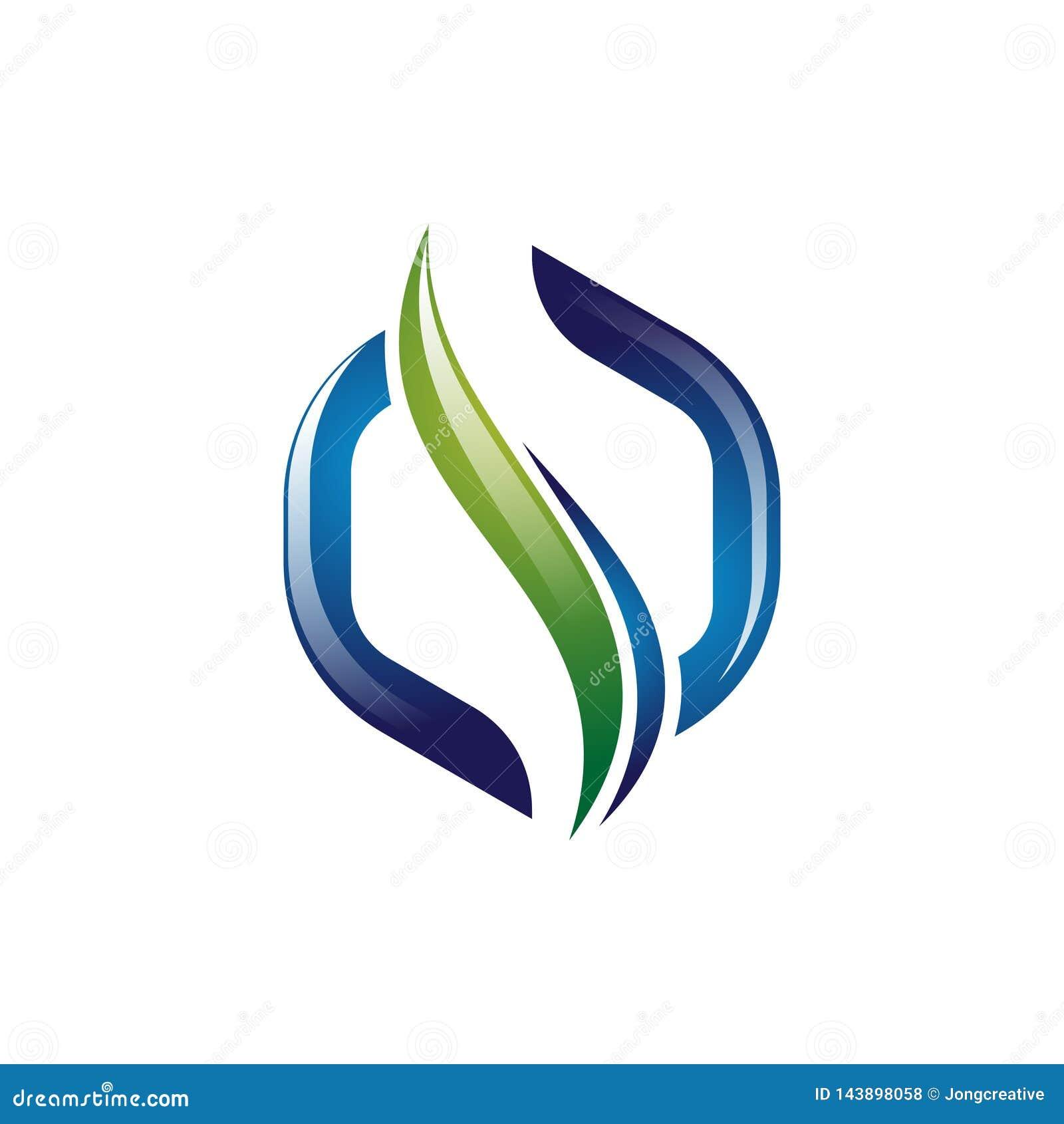 шаблон логотипа здоровья позвоночника конспекта шестиугольника 3D современный