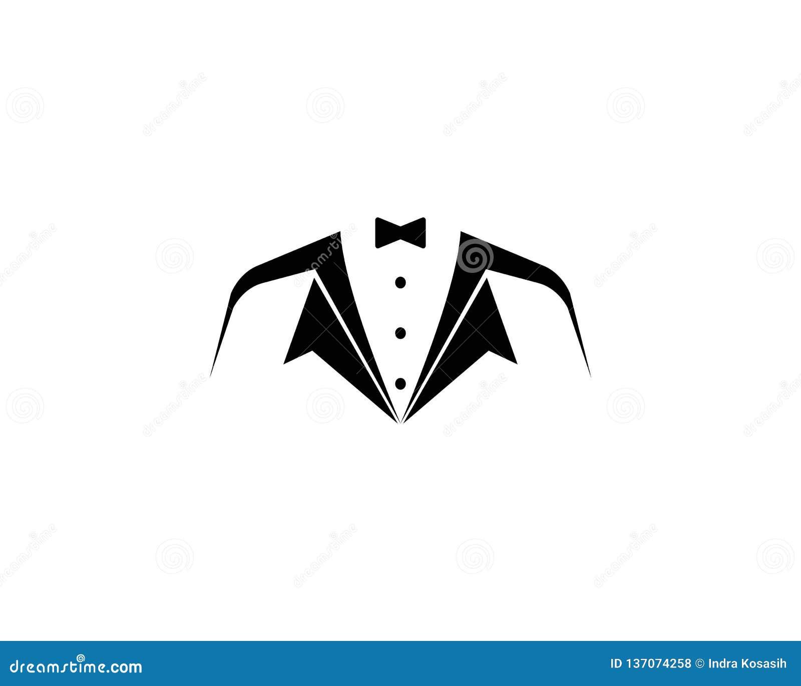 Шаблон логотипа смокинга