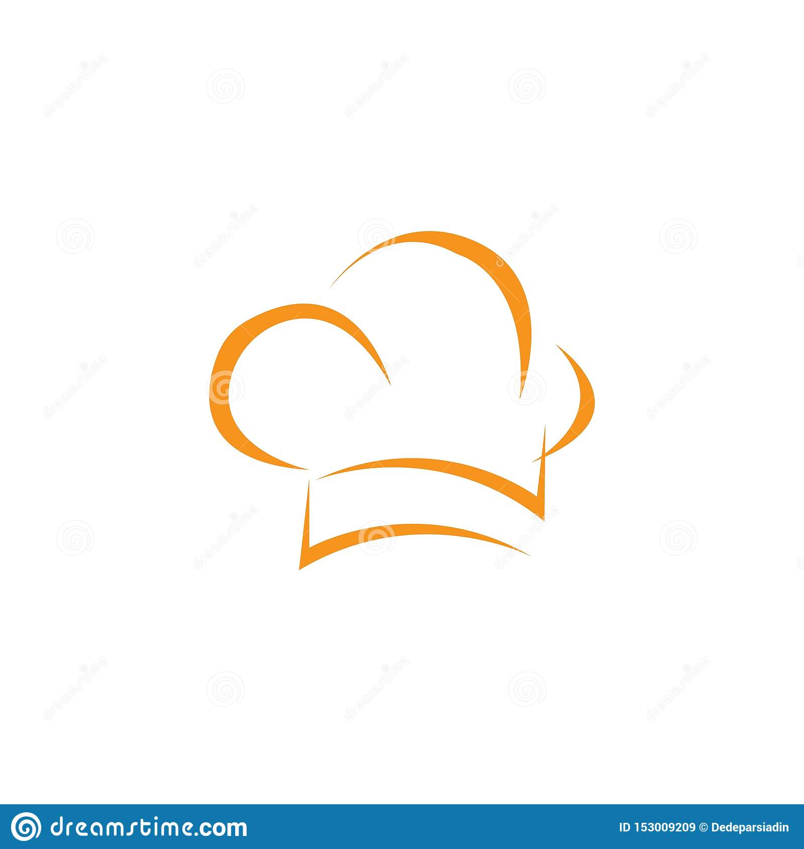 Шаблон логотипа шеф-повара шляпы