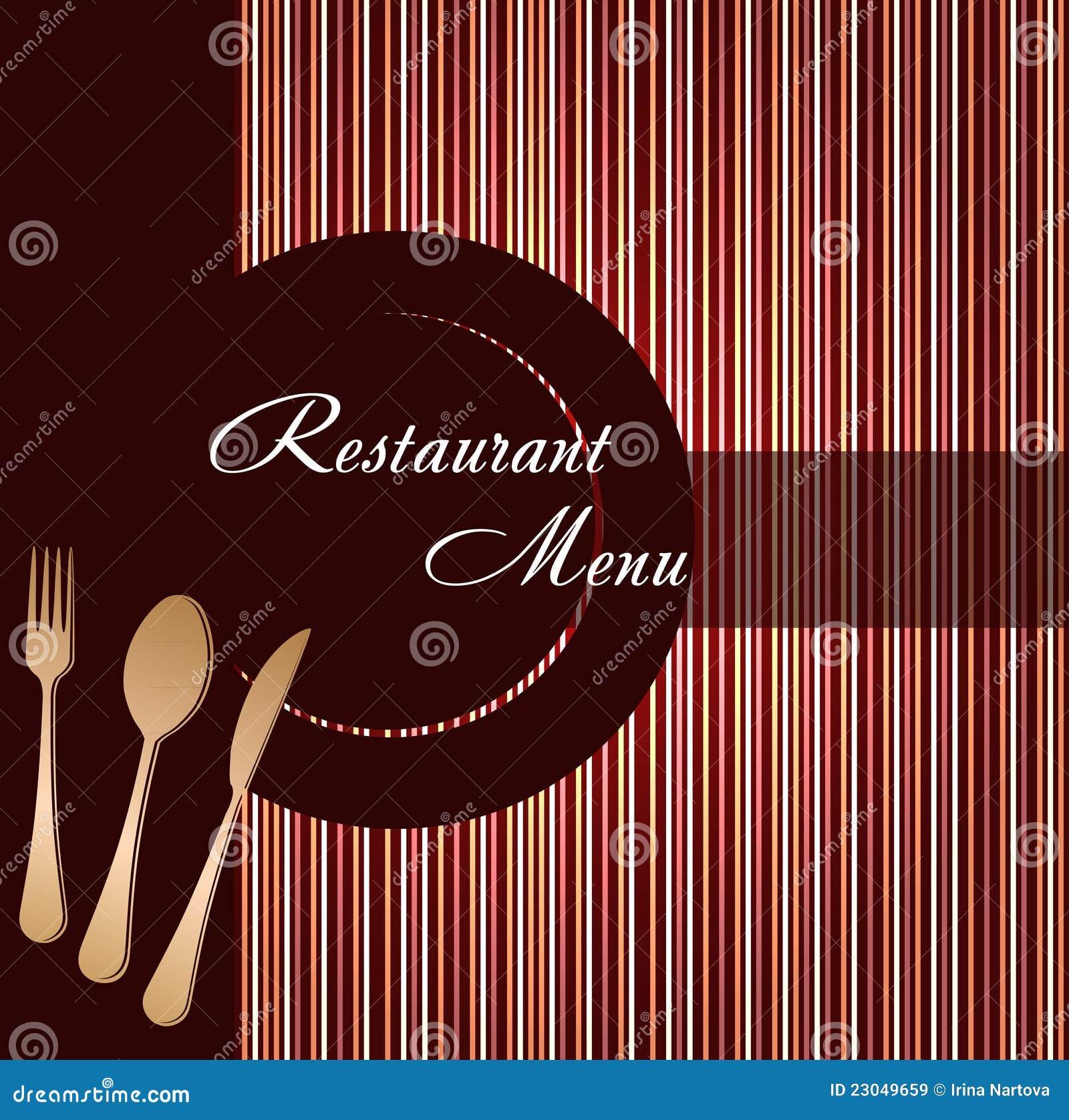 шаблон меню для ресторана или кафе
