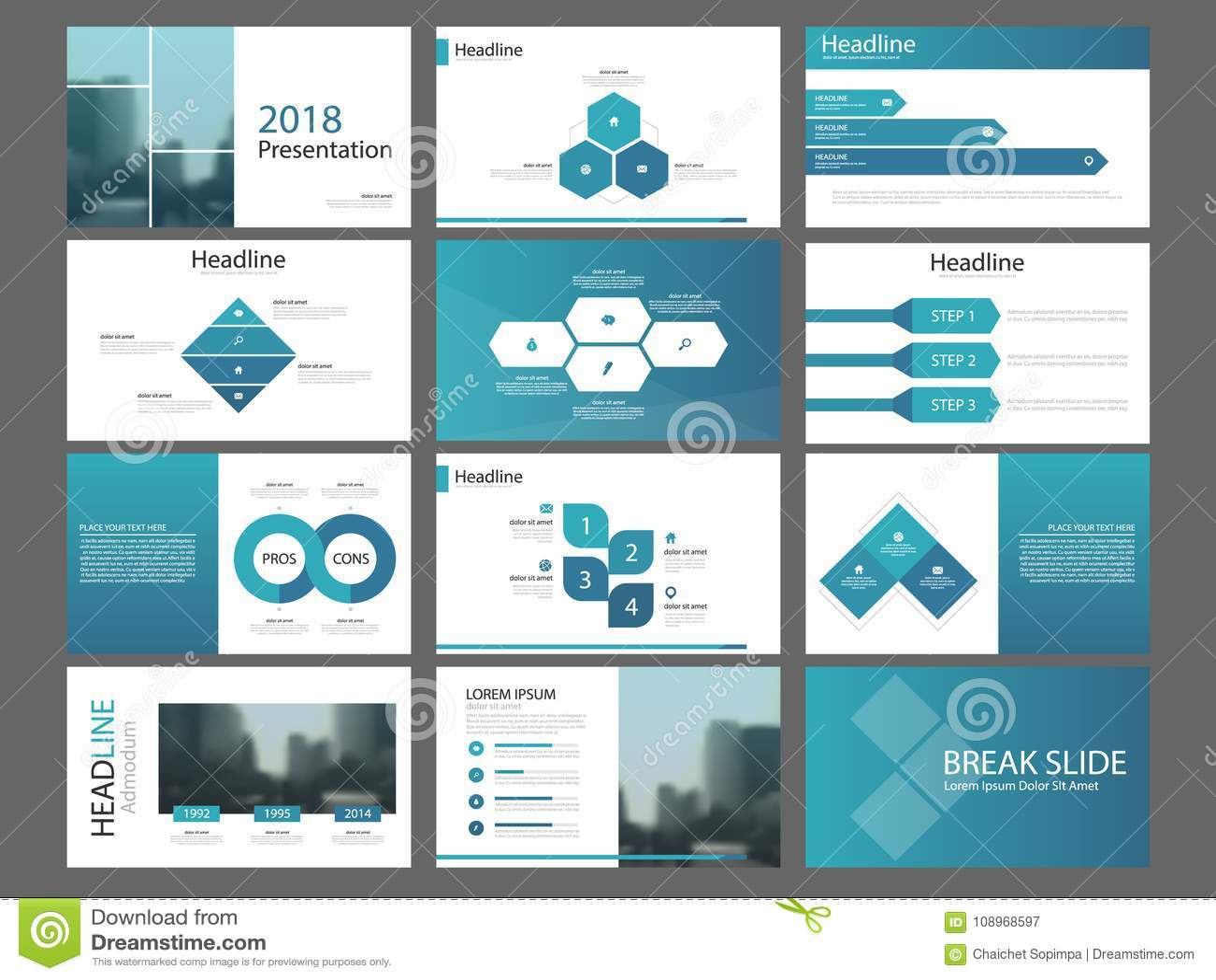 Шаблон представления элементов голубой пачки треугольника infographic годовой отчет дела, брошюра, листовка, рогулька рекламы,