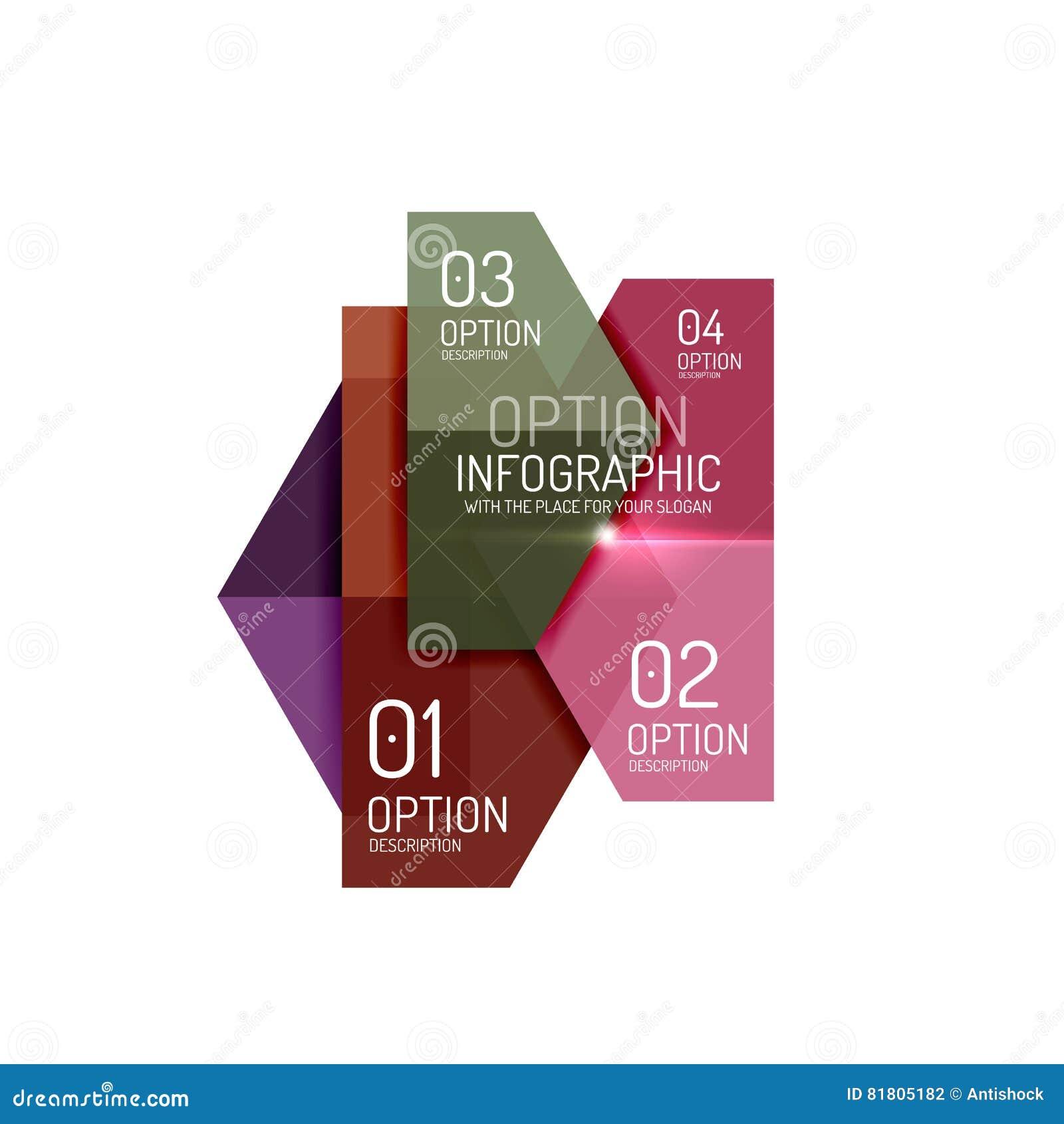 Шаблоны Infographic современные - геометрические формы