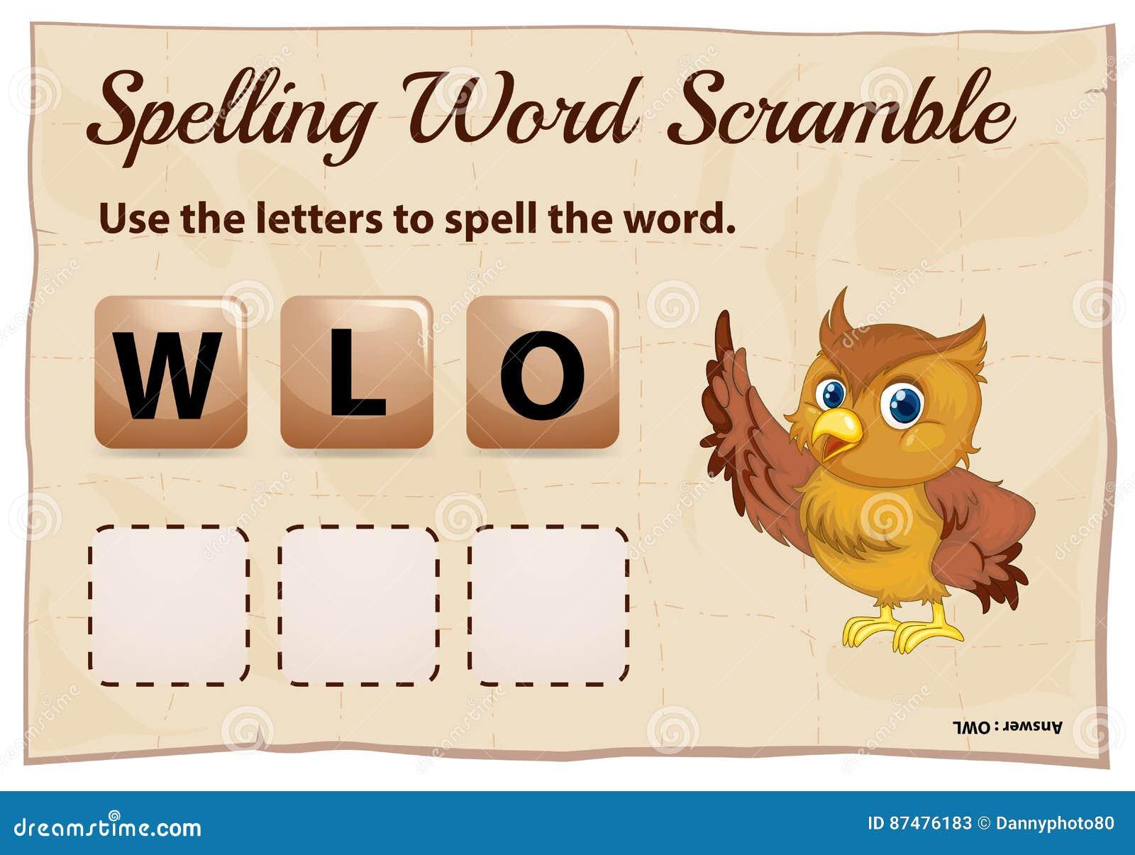 Шаблон борьбы слова правописания с милым сычом