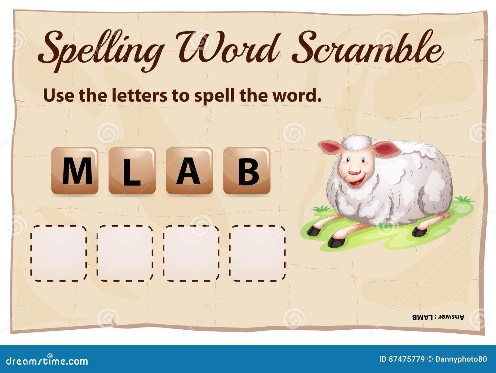Шаблон борьбы слова правописания с овечкой слова