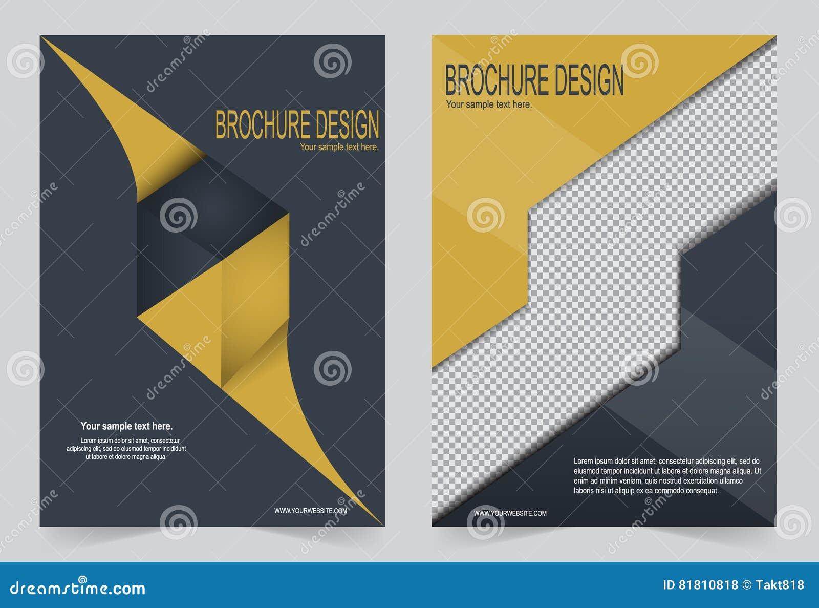 Шаблон брошюры, дизайн рогульки шаблон черный и желтый