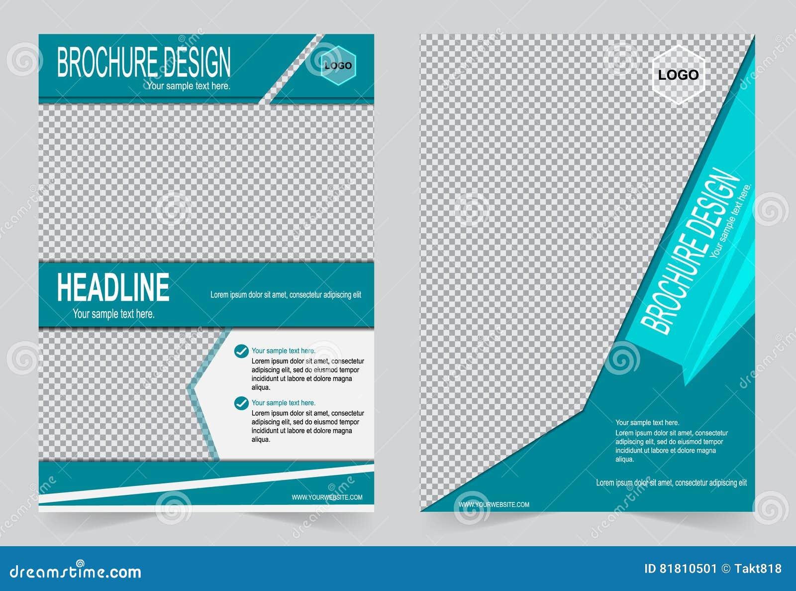 Шаблон брошюры, шаблон зеленого цвета дизайна рогульки