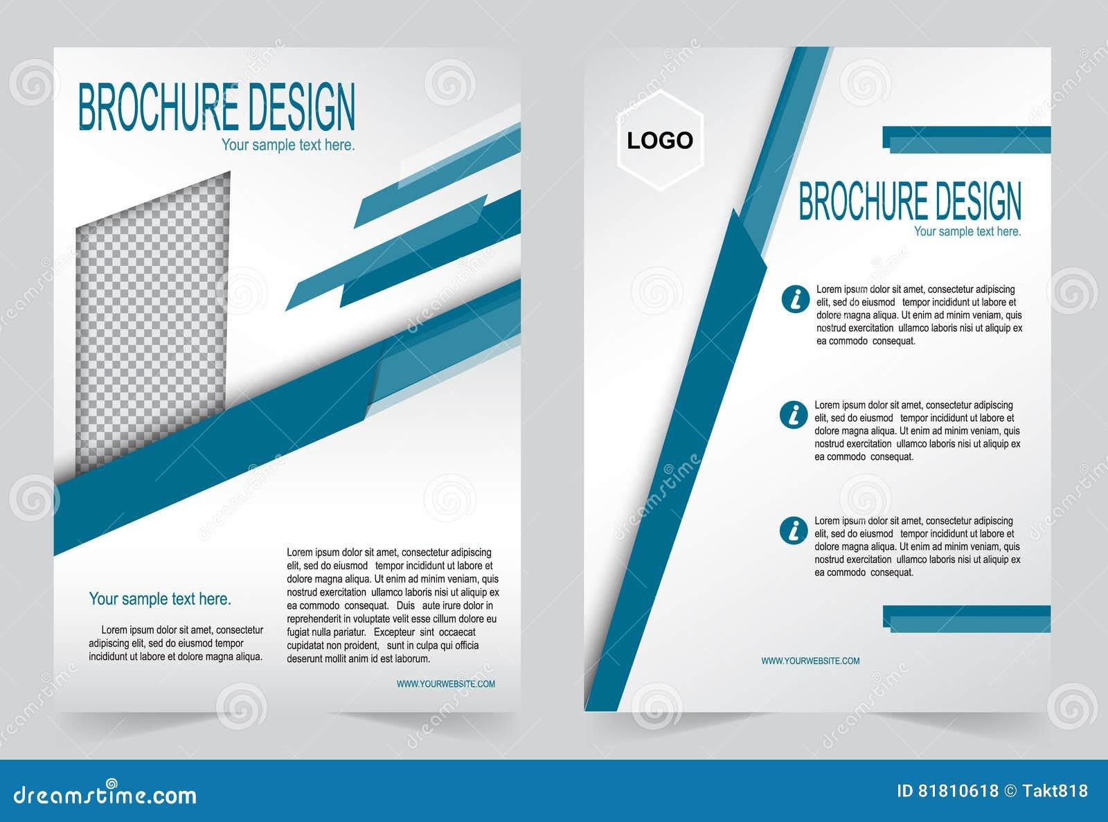 Шаблон брошюры, шаблон сини дизайна рогульки