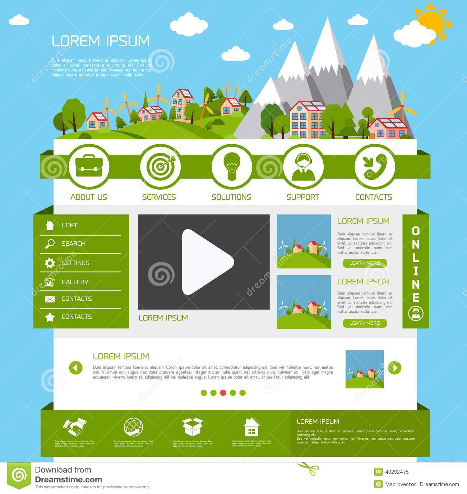Шаблон вебсайта Eco