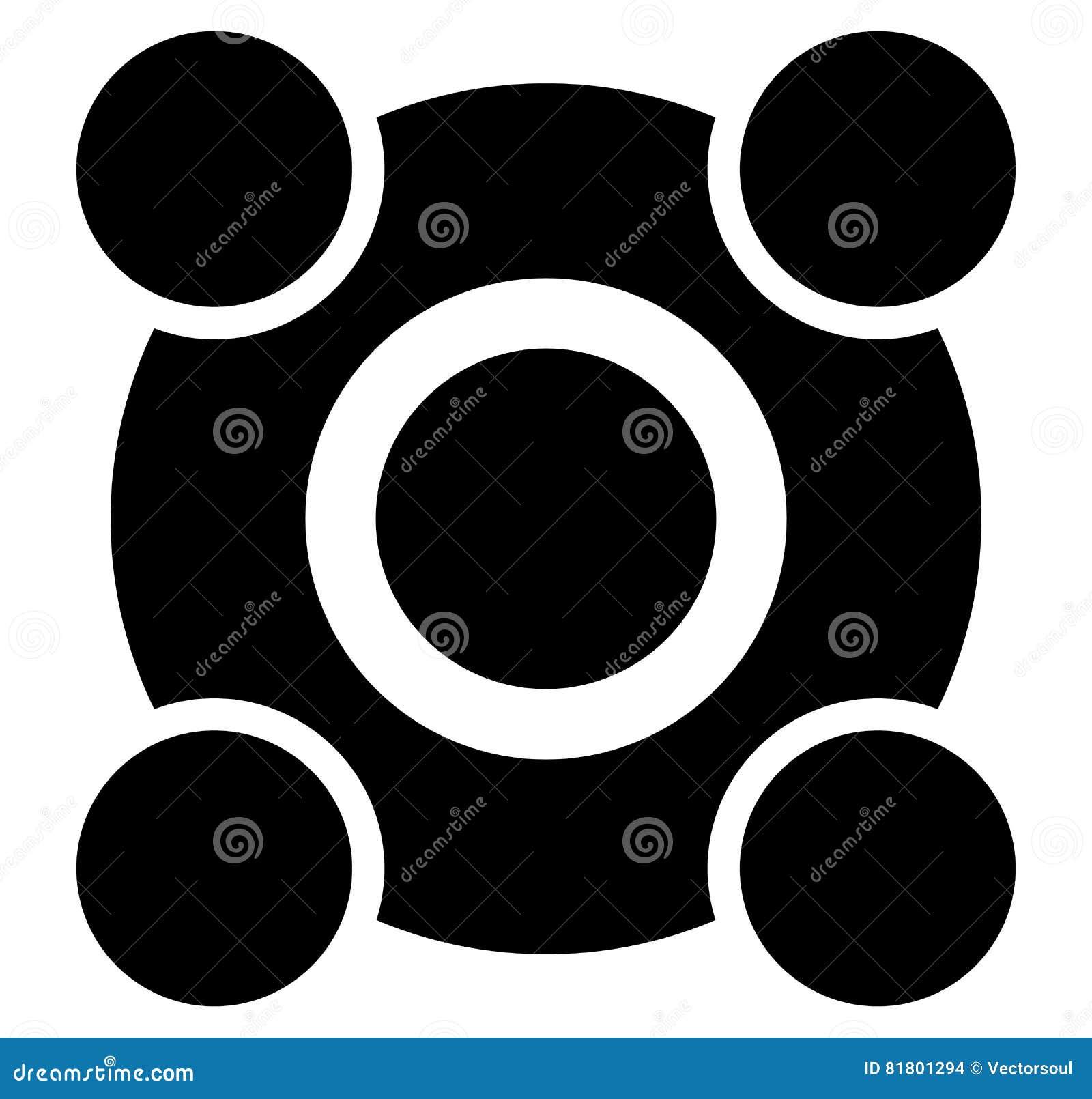 Шаблон группы кнопки регулятора разбивочный Удаленное cente регулятора