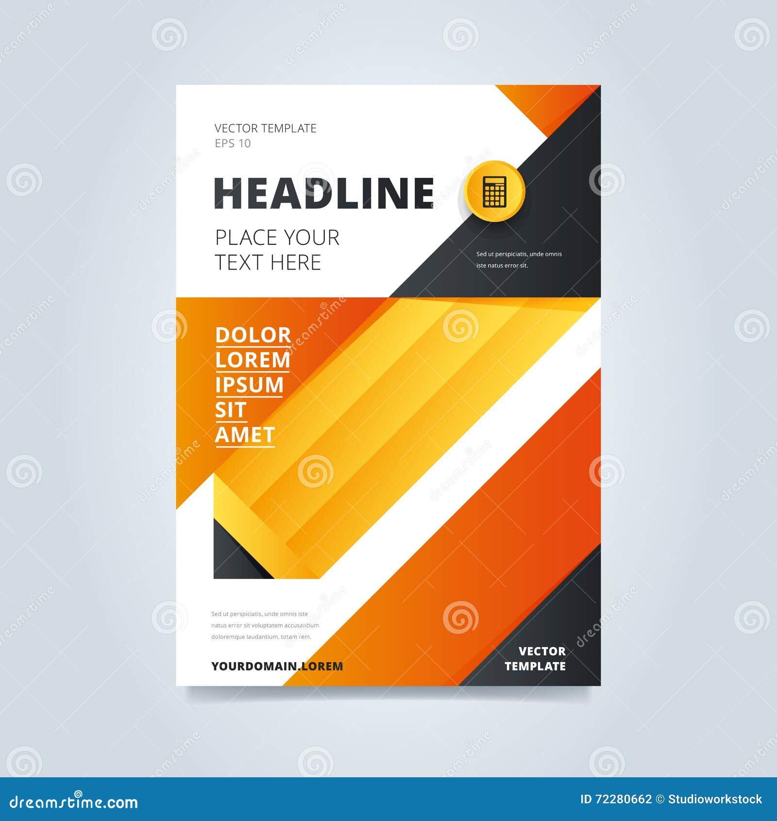 Download Шаблон дизайна брошюры иллюстрация вектора. иллюстрации насчитывающей уговариваний - 72280662