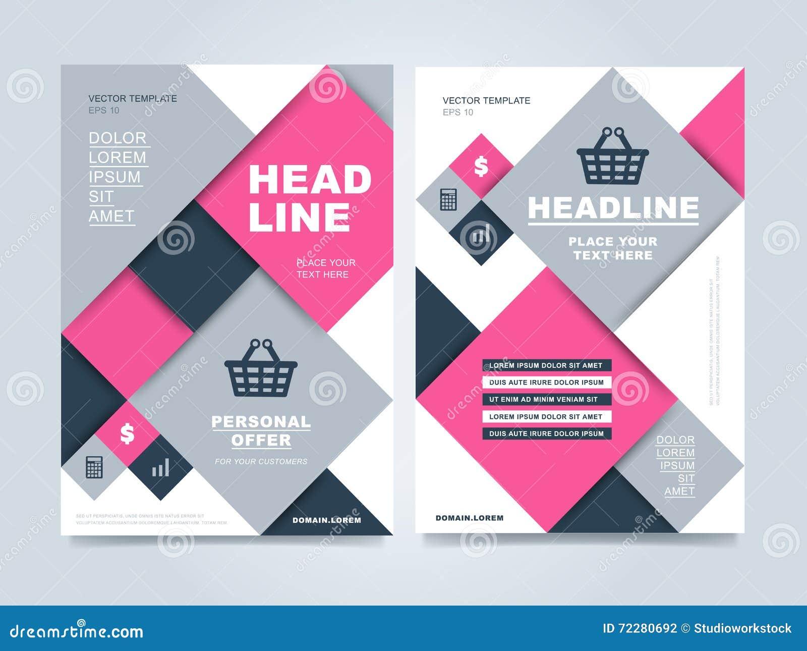 Download Шаблон дизайна брошюры иллюстрация вектора. иллюстрации насчитывающей маркетинг - 72280692