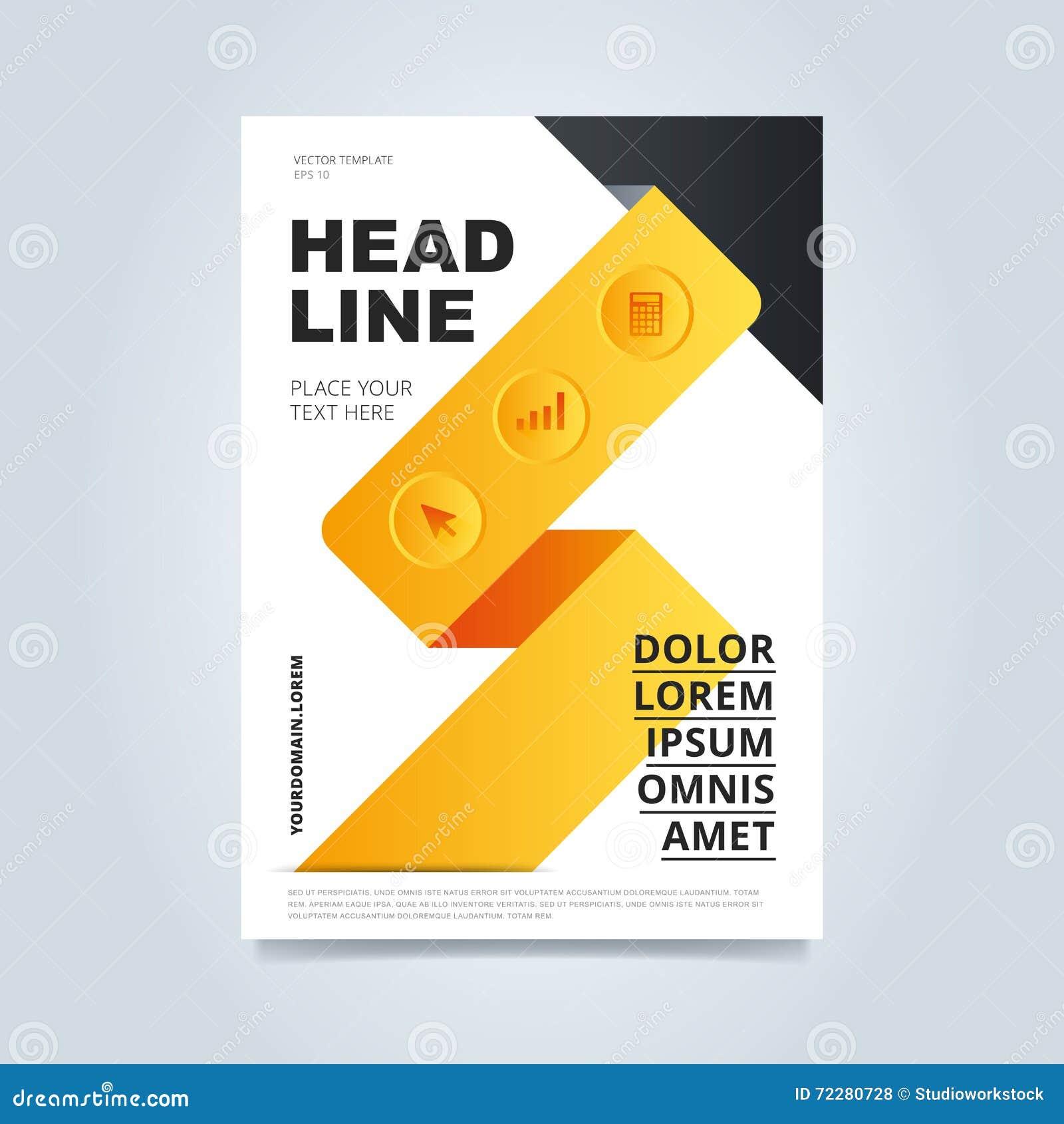 Download Шаблон дизайна брошюры иллюстрация штока. иллюстрации насчитывающей знамена - 72280728