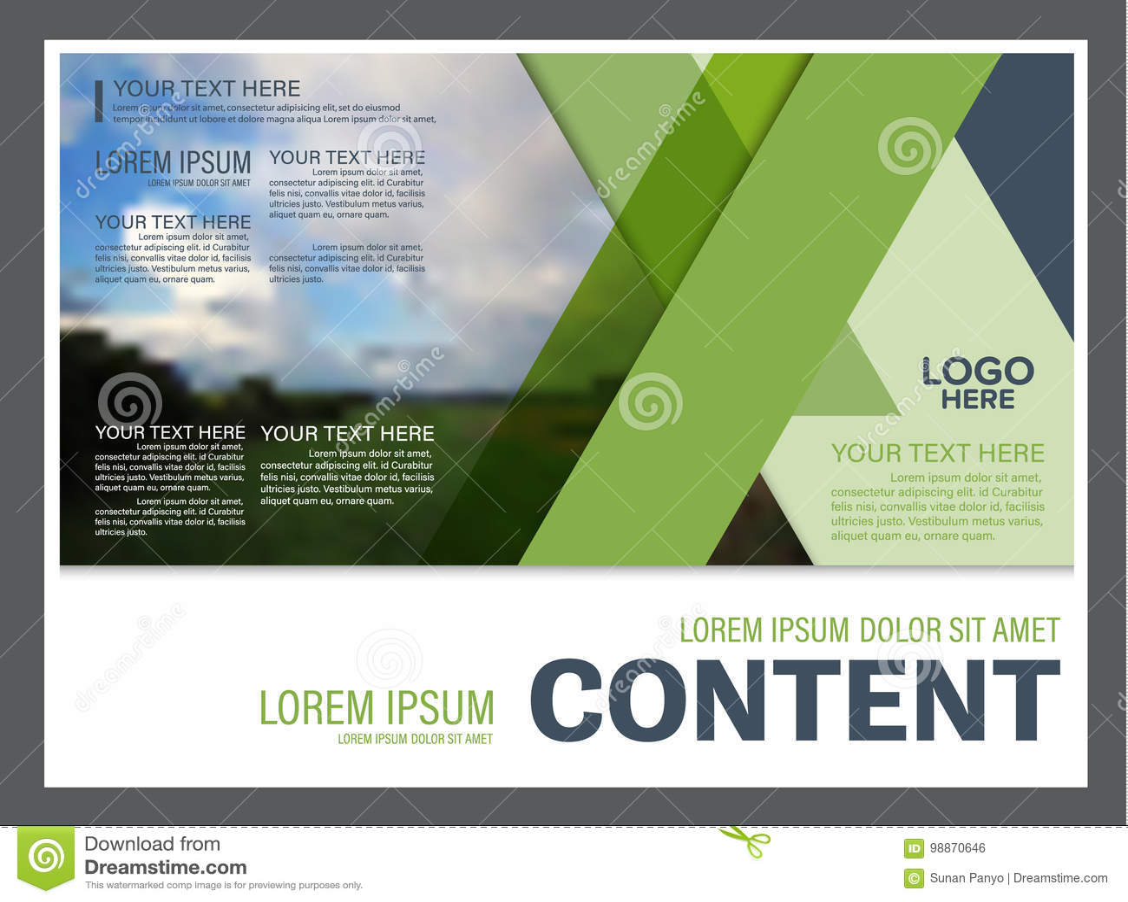Шаблон дизайна плана представления растительности Обложка годового отчета