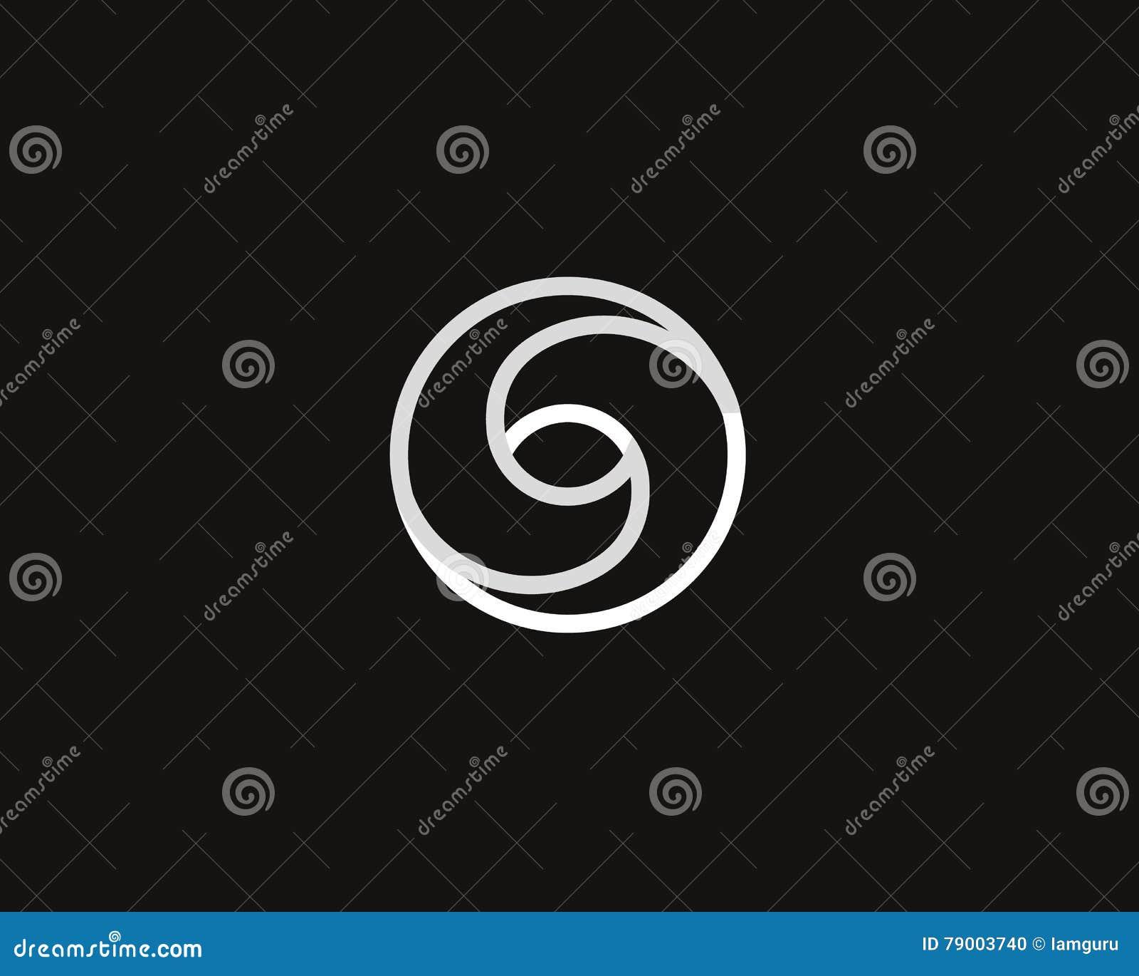 Шаблон дизайна символа логотипа безграничности спирали свирли глаза Творческий линейный логотип зрения средств массовой информаци