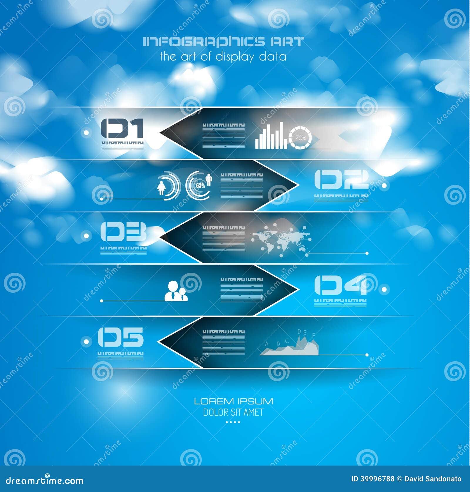 Шаблон дизайна Infographic с бумажными бирками