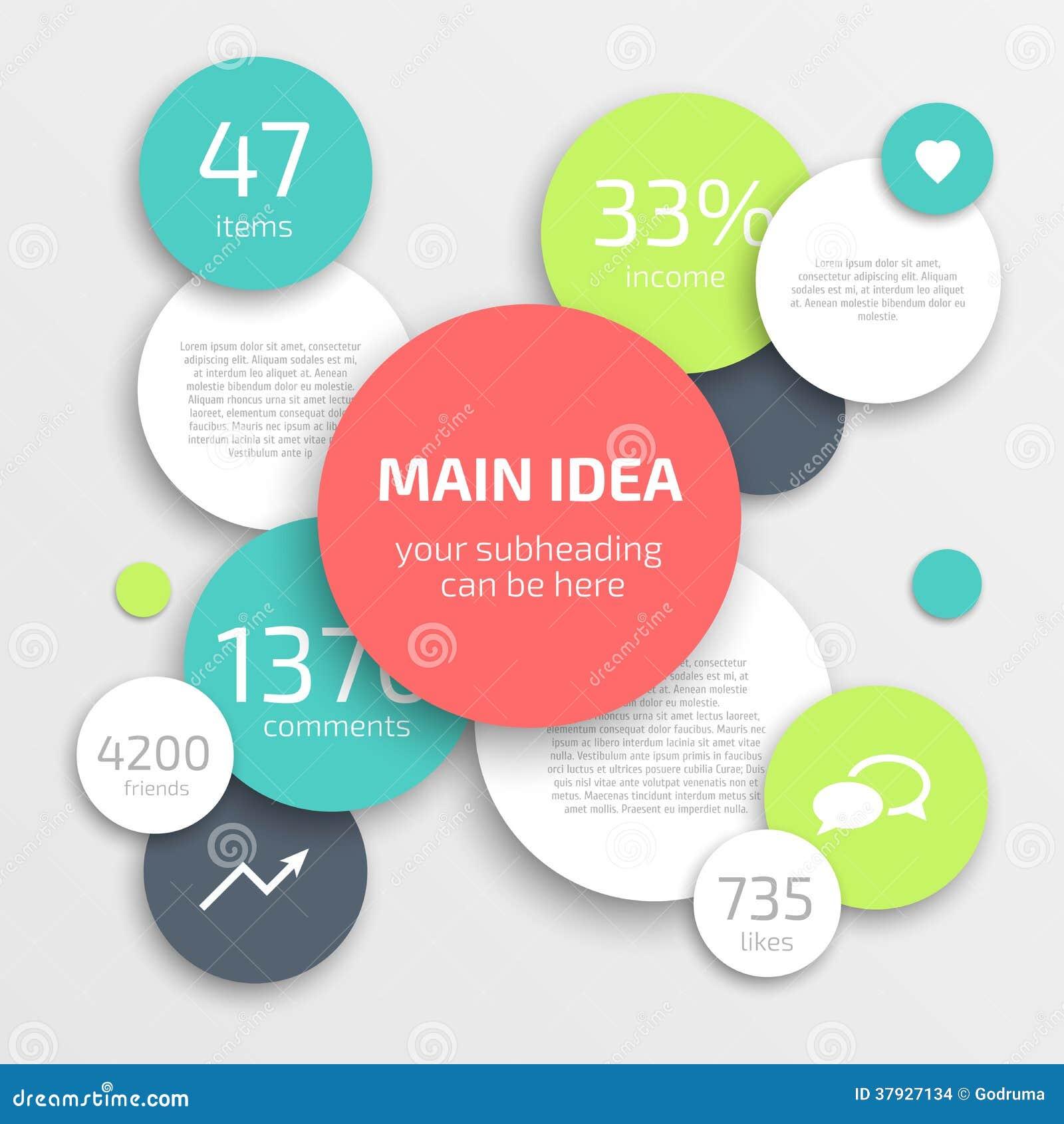 Шаблон дизайна Infographics дела круга.